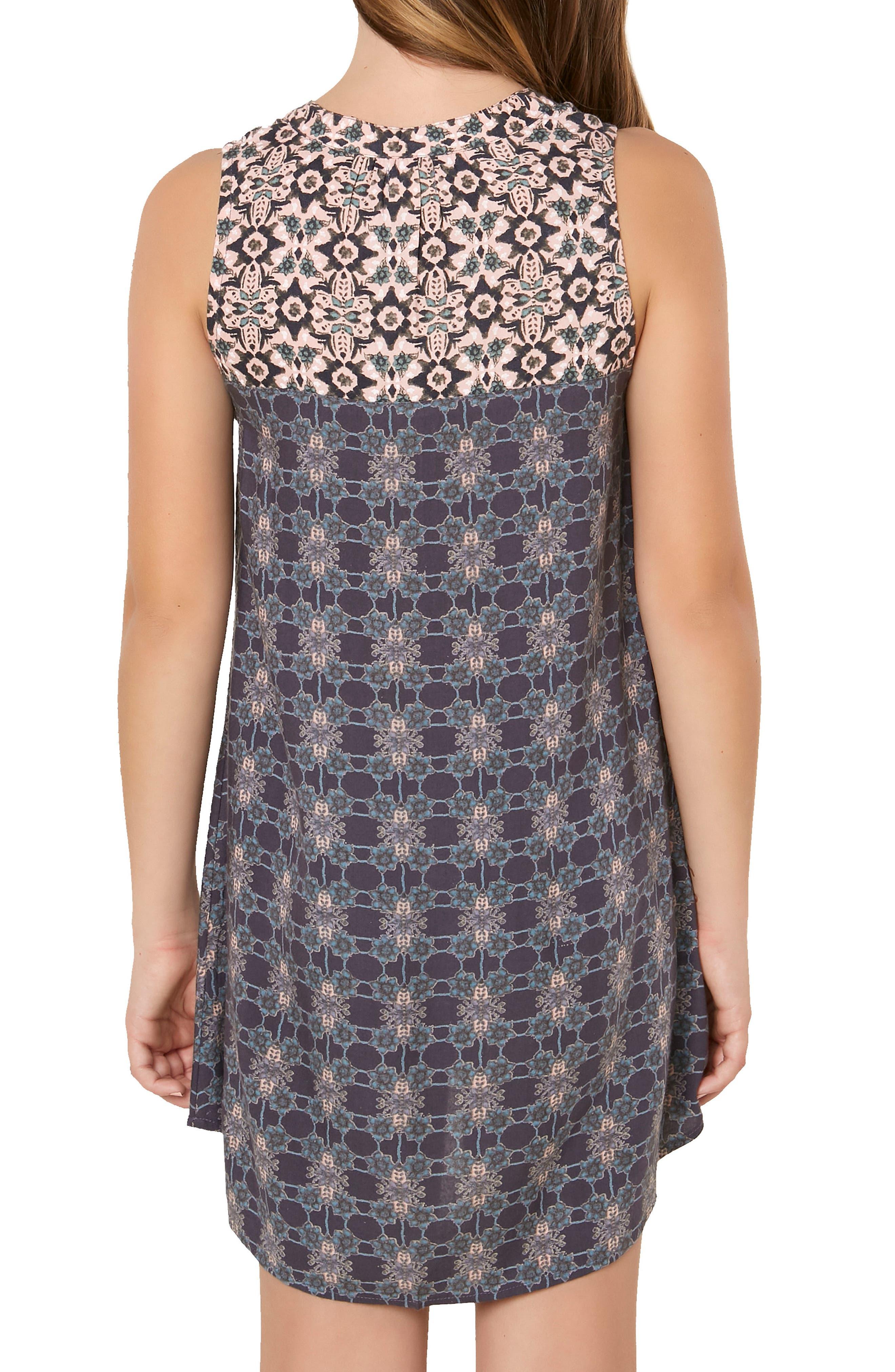 Gina Mixed Print Dress,                             Alternate thumbnail 5, color,                             021