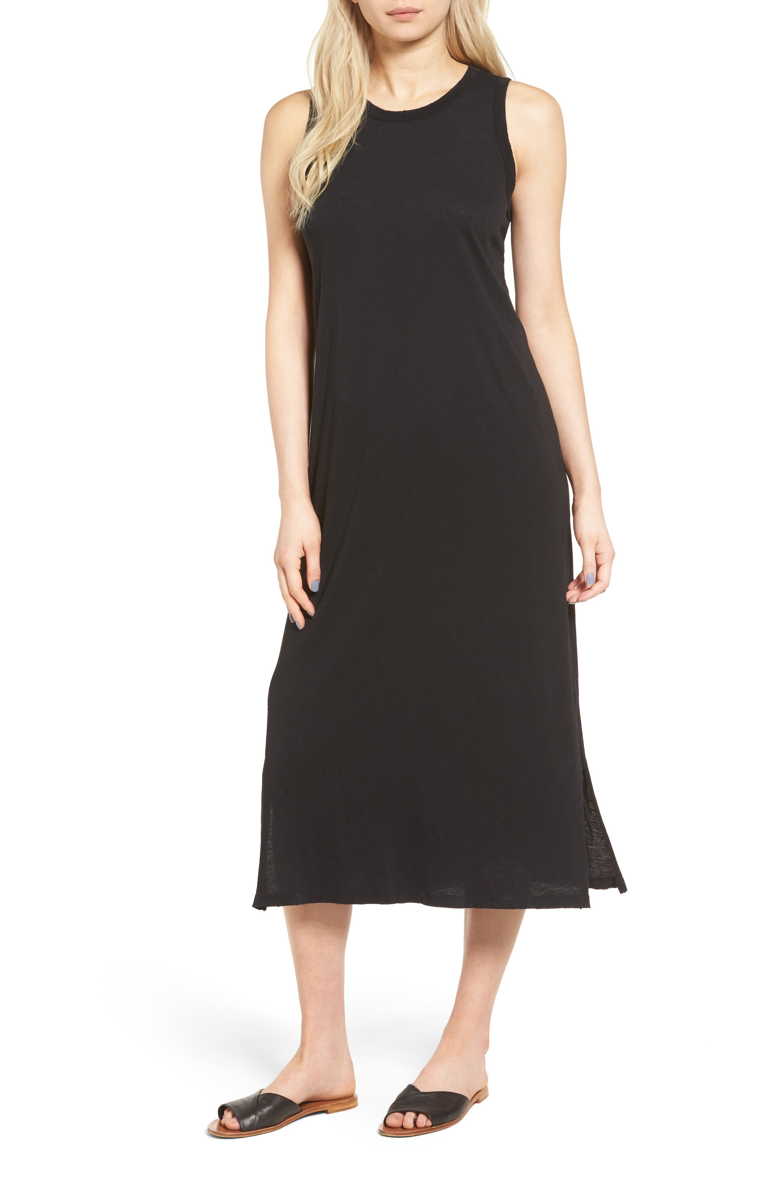 The Perfect Muscle Tee Dress,                         Main,                         color, BLACK BEAUTY
