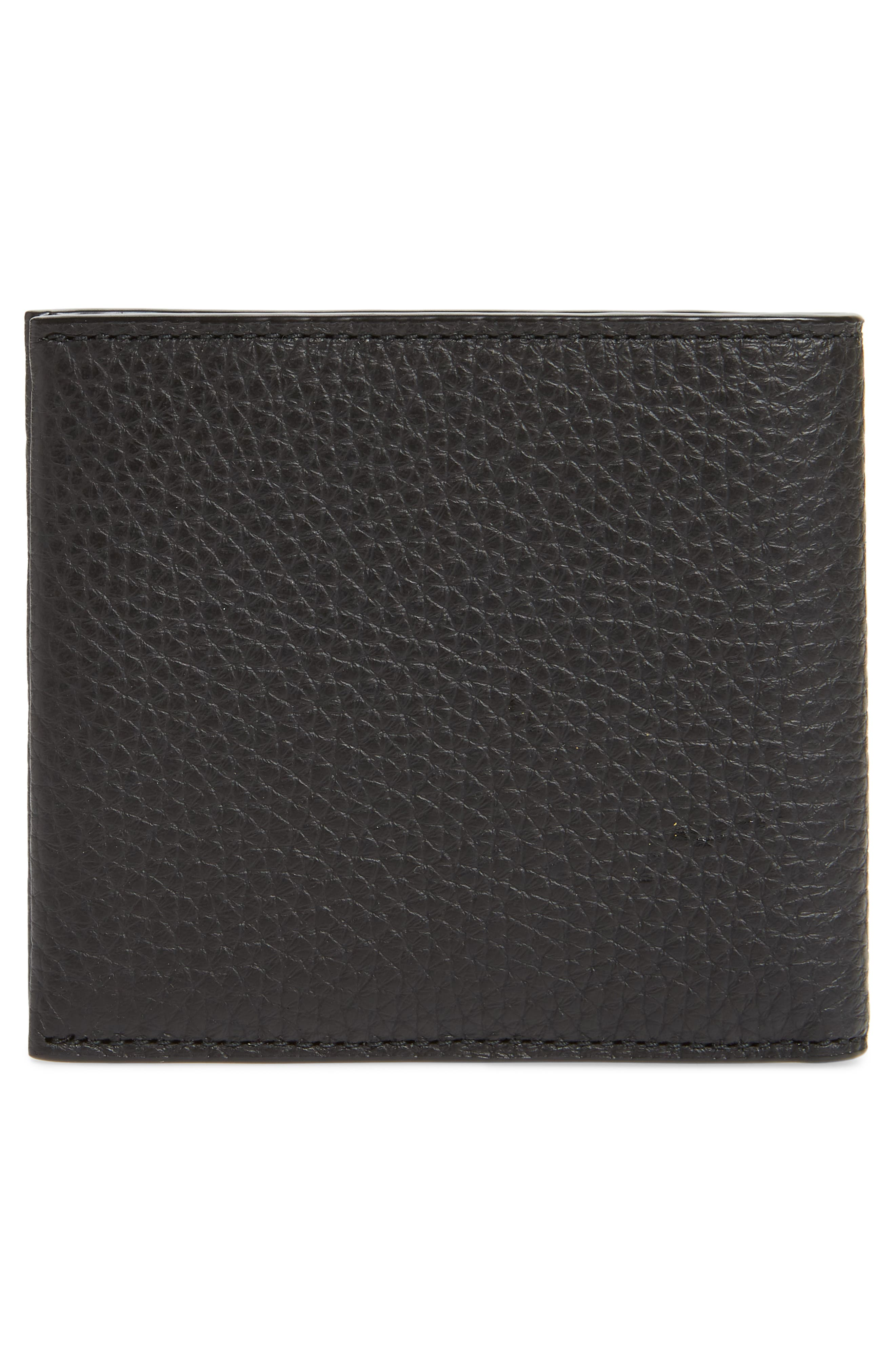 Crosstown 8-Card Leather Wallet,                             Alternate thumbnail 3, color,                             BLACK