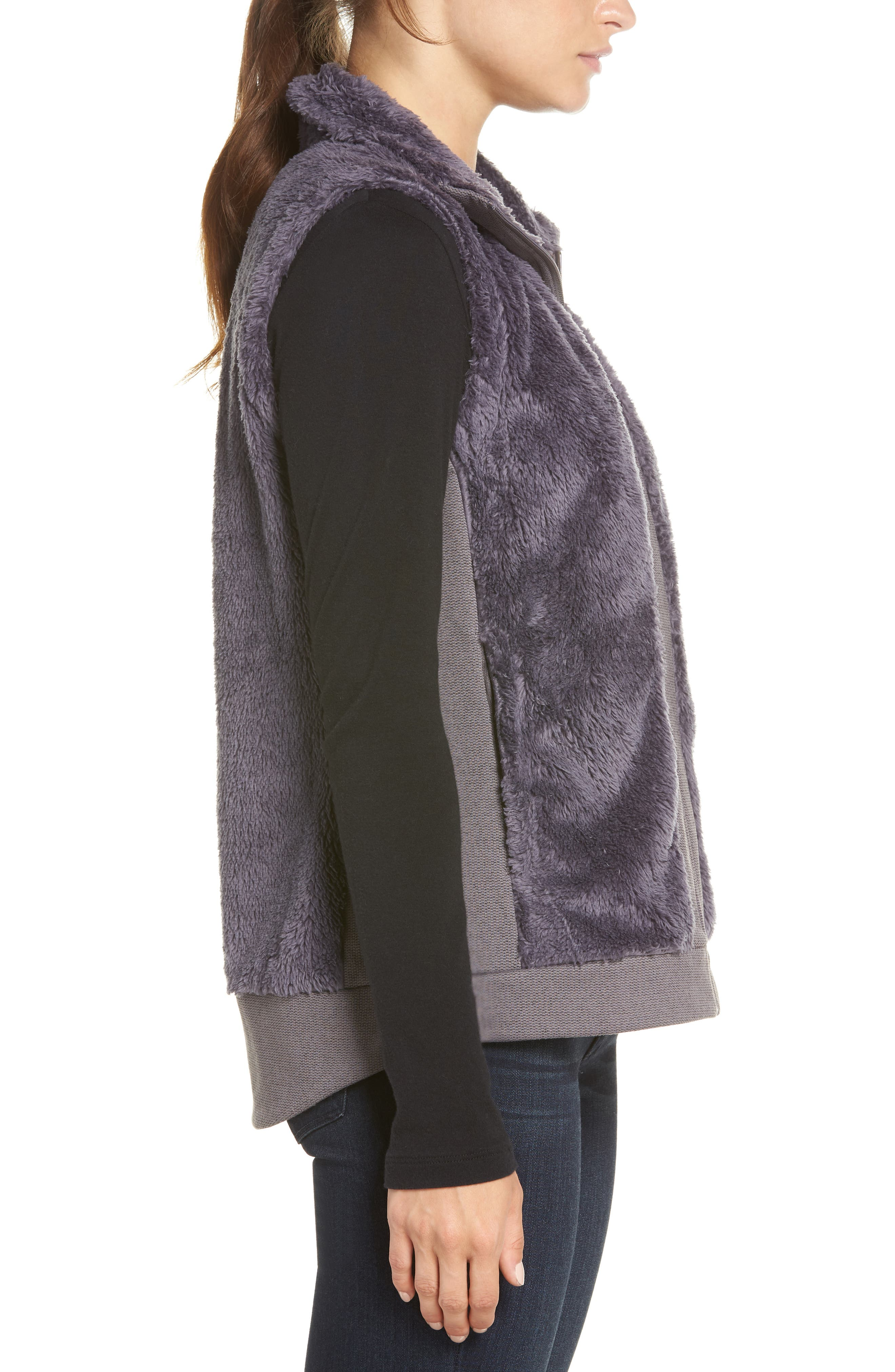 Faux Fur Vest,                             Alternate thumbnail 3, color,                             RABBIT GREY