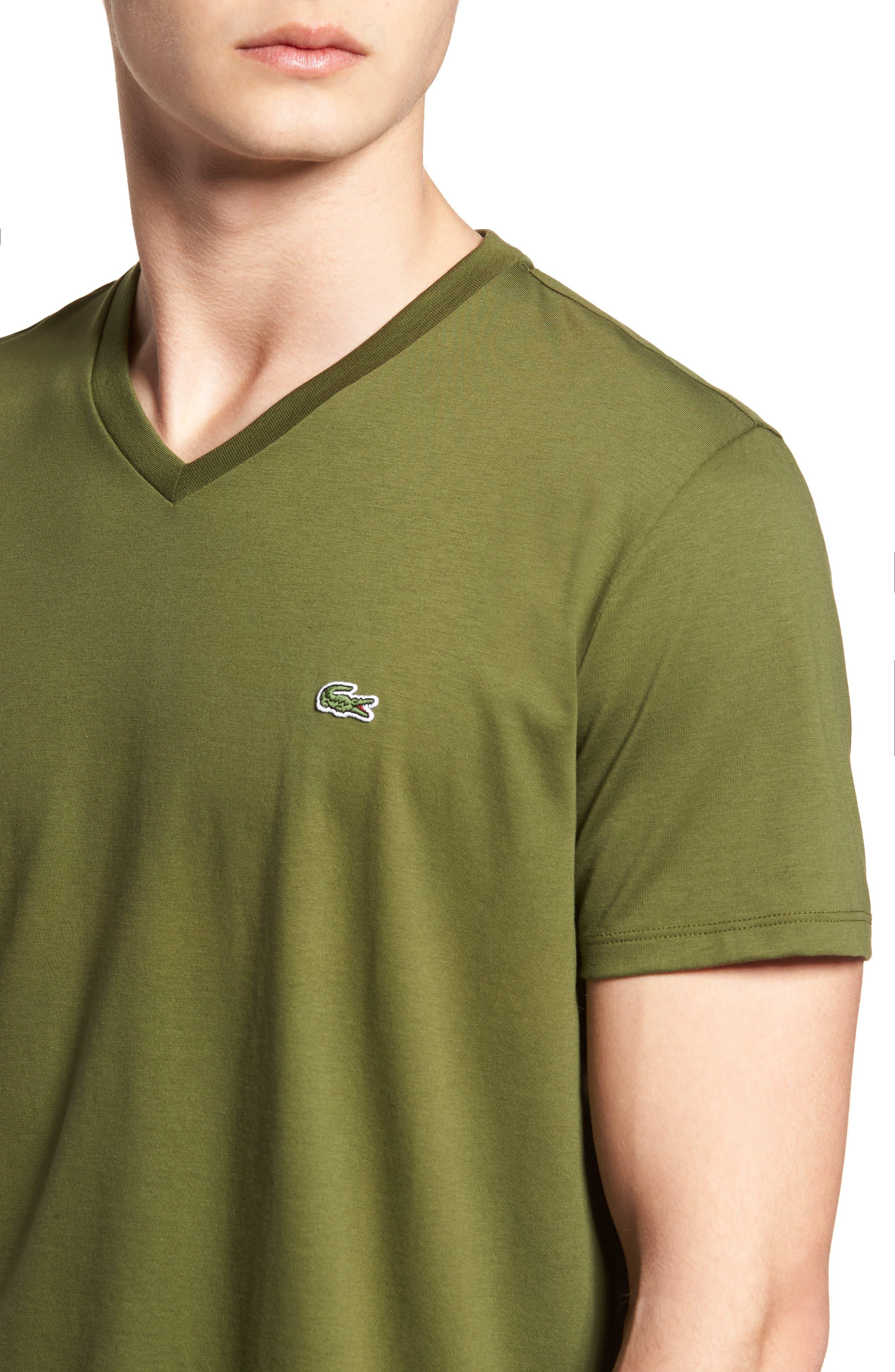 V-Neck Cotton T-Shirt,                             Alternate thumbnail 4, color,                             305