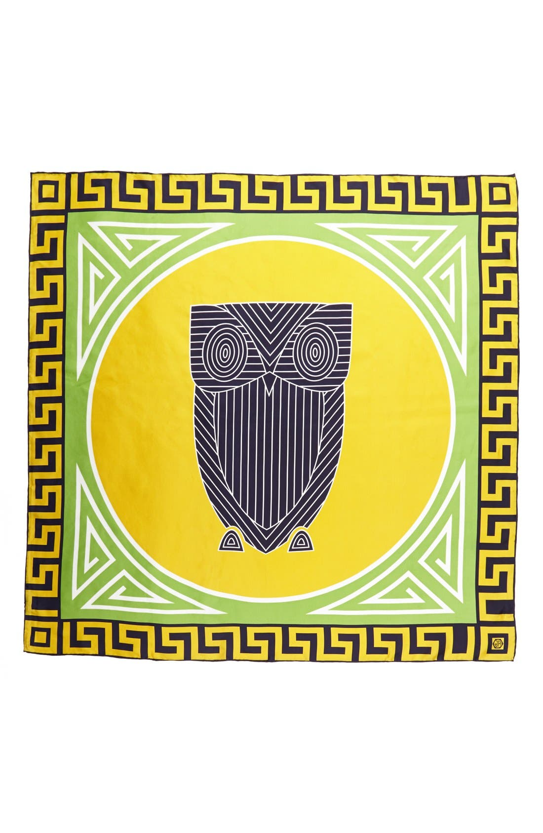 'Chinoiserie Owl' Silk Scarf,                             Alternate thumbnail 2, color,                             321