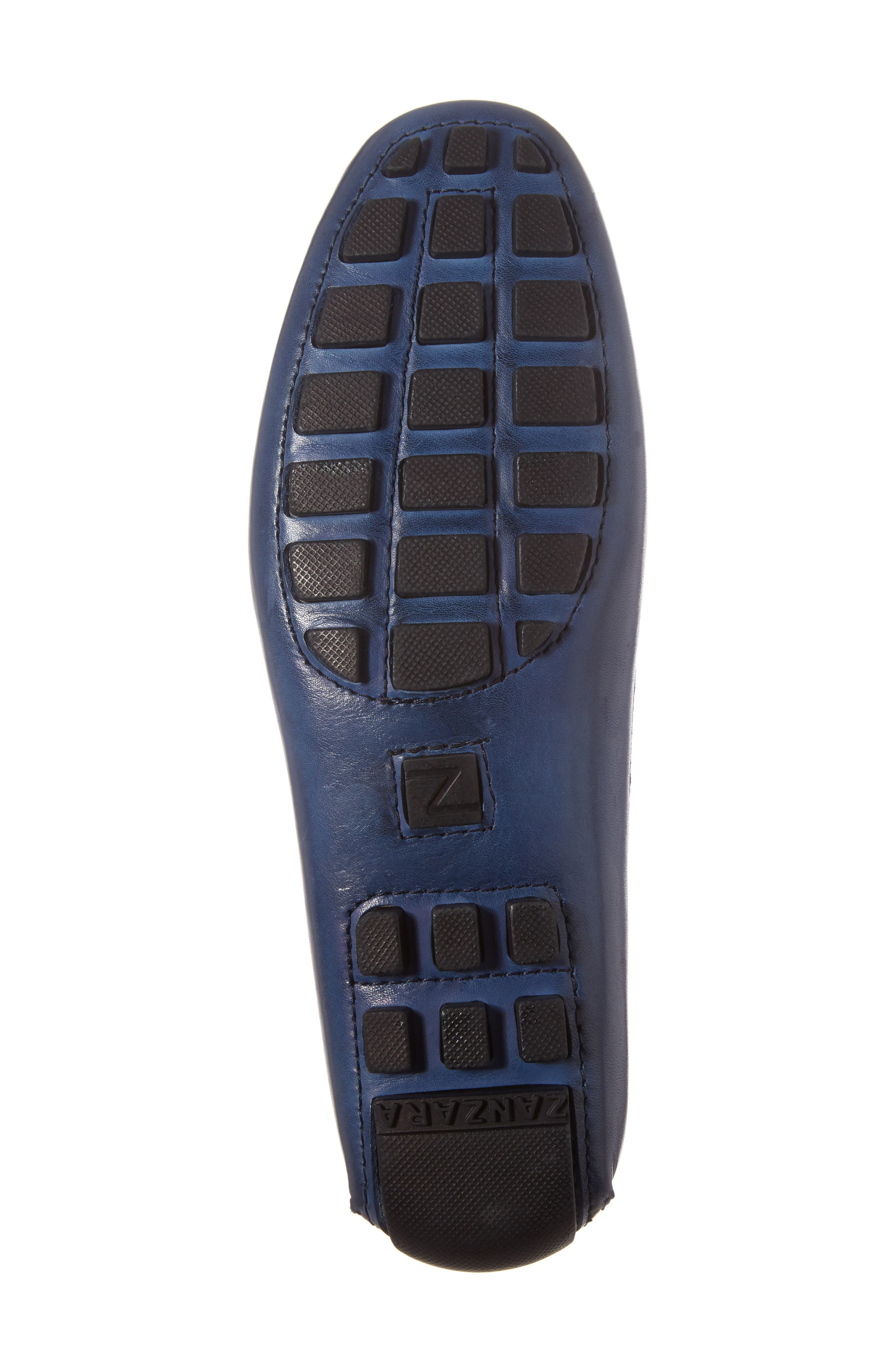 ZANZARA,                             Francesca Driving Shoe,                             Alternate thumbnail 6, color,                             BLUE LEATHER