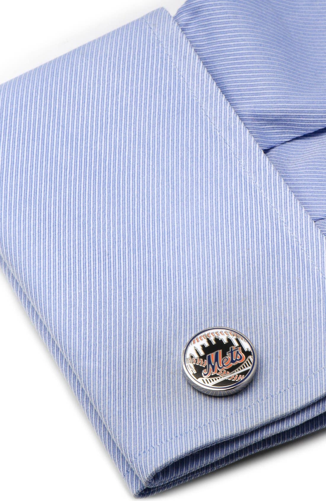 New York Mets Cuff Links,                             Alternate thumbnail 3, color,                             001