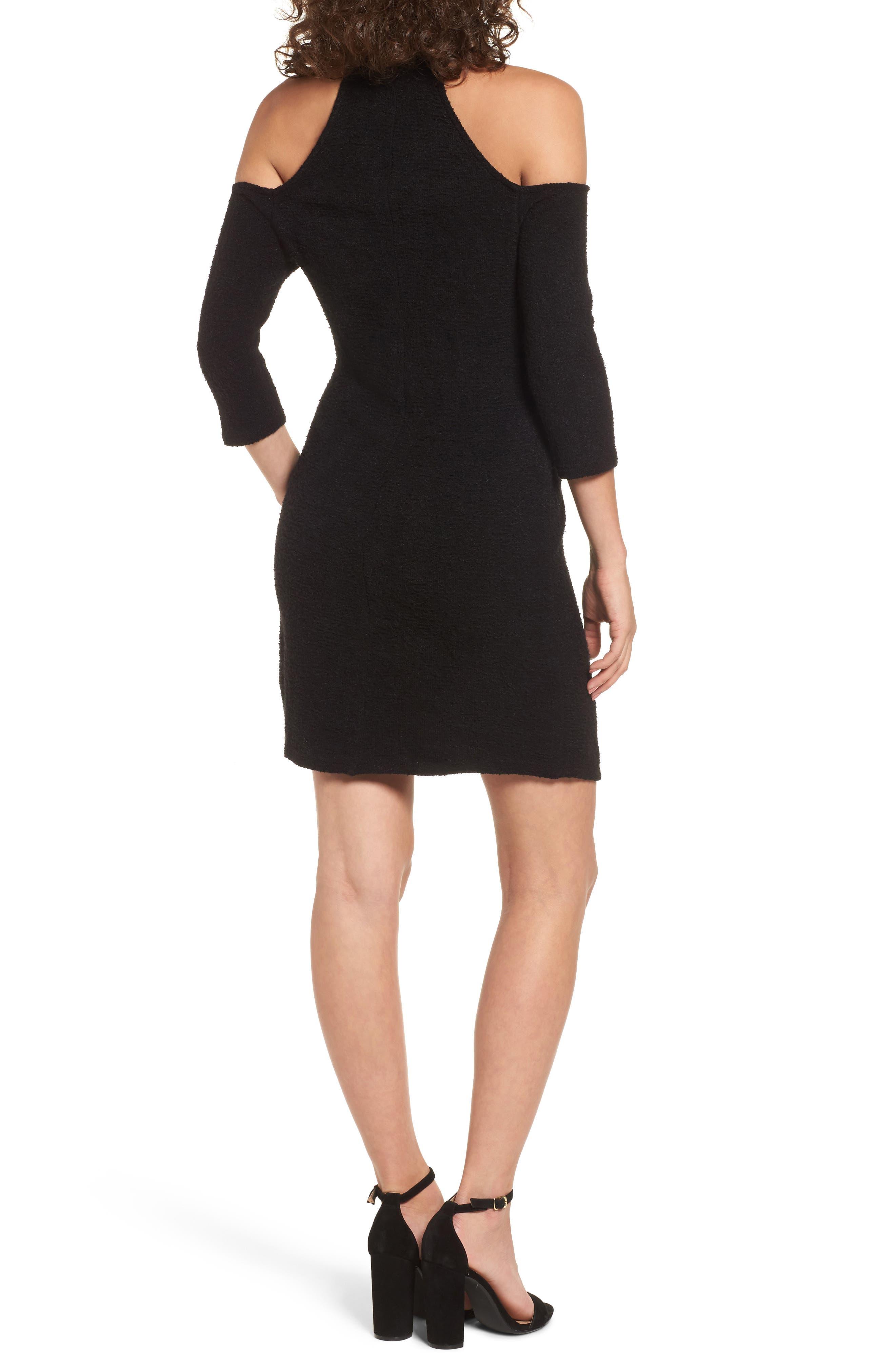 Cold Shoulder Turtlenck Sweater Dress,                             Alternate thumbnail 2, color,