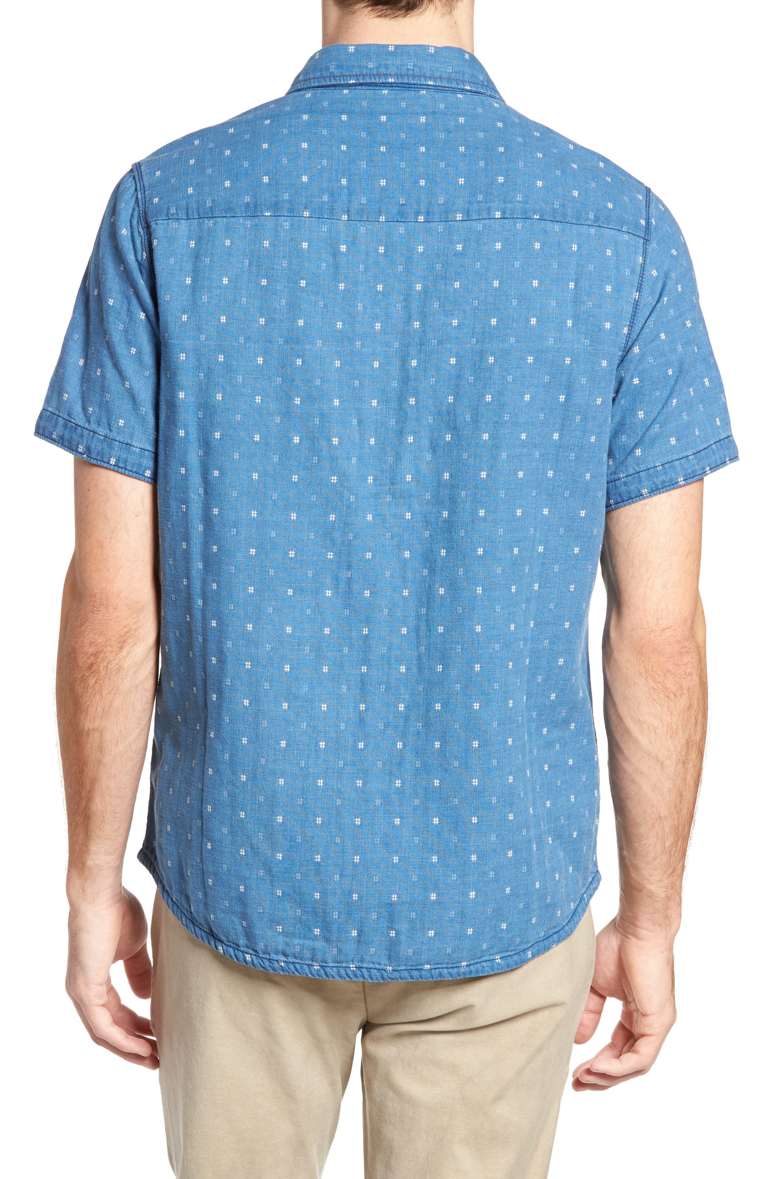 Kit Reversible Jacquard Sport Shirt,                             Alternate thumbnail 3, color,