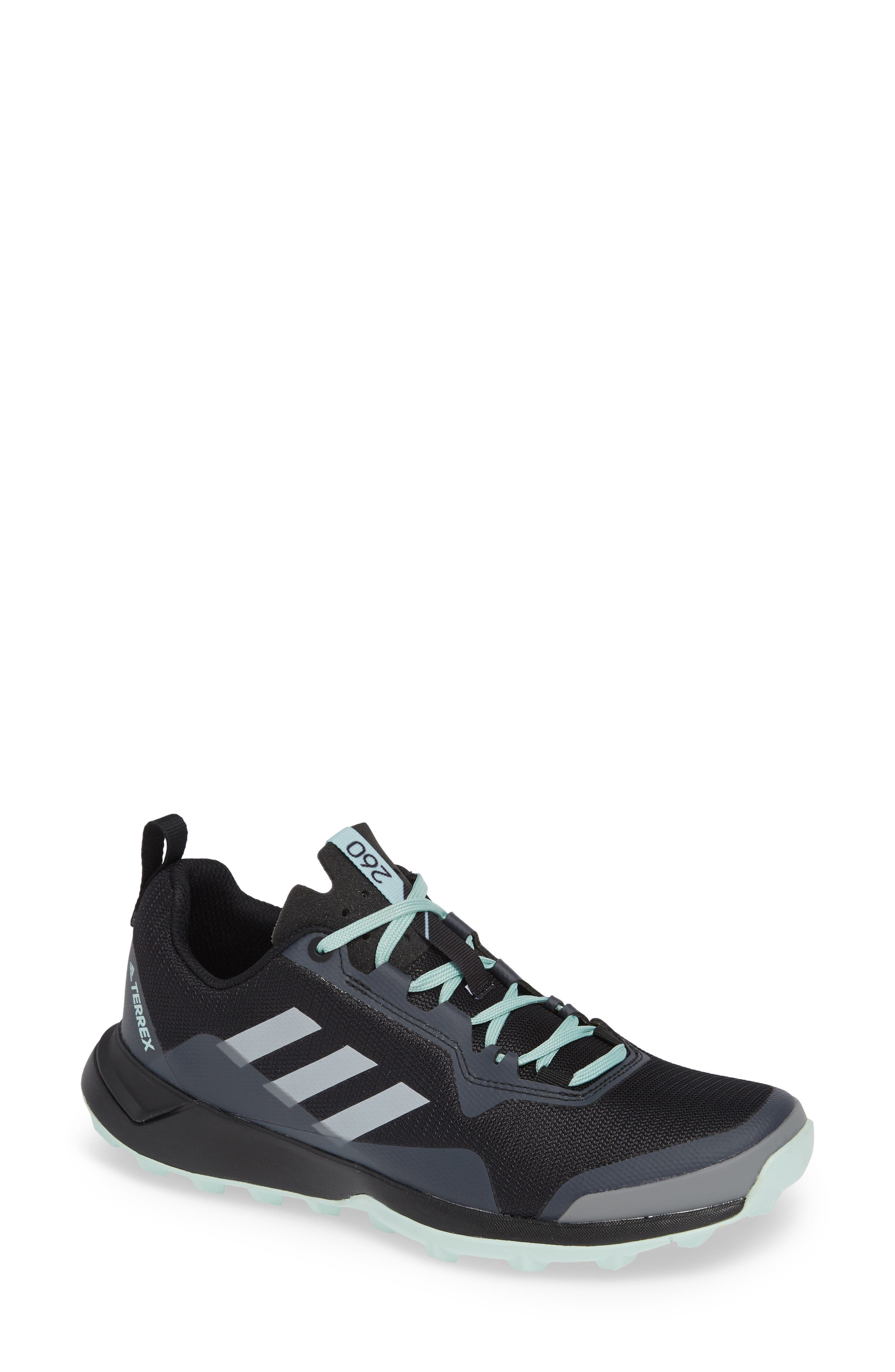 Terrex CMTK Gore-Tex<sup>®</sup> Waterproof Hiking Sneaker,                         Main,                         color, BLACK/ CHALK WHITE/ ASH GREEN