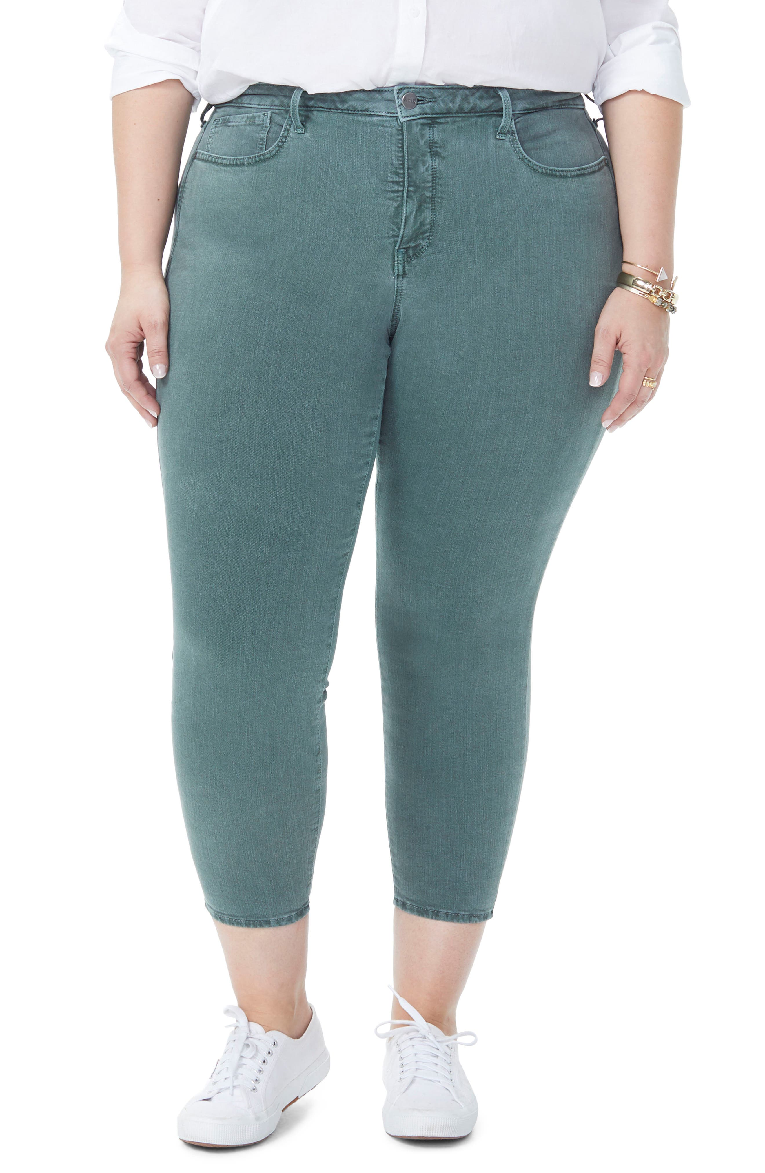 Ami Stretch Ankle Skinny Jeans,                             Main thumbnail 1, color,                             SUGAR PINE