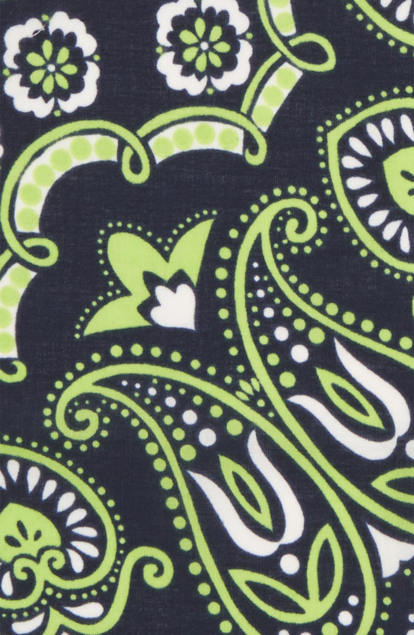 Neon Paisley Cotton Pocket Square,                             Alternate thumbnail 3, color,                             400
