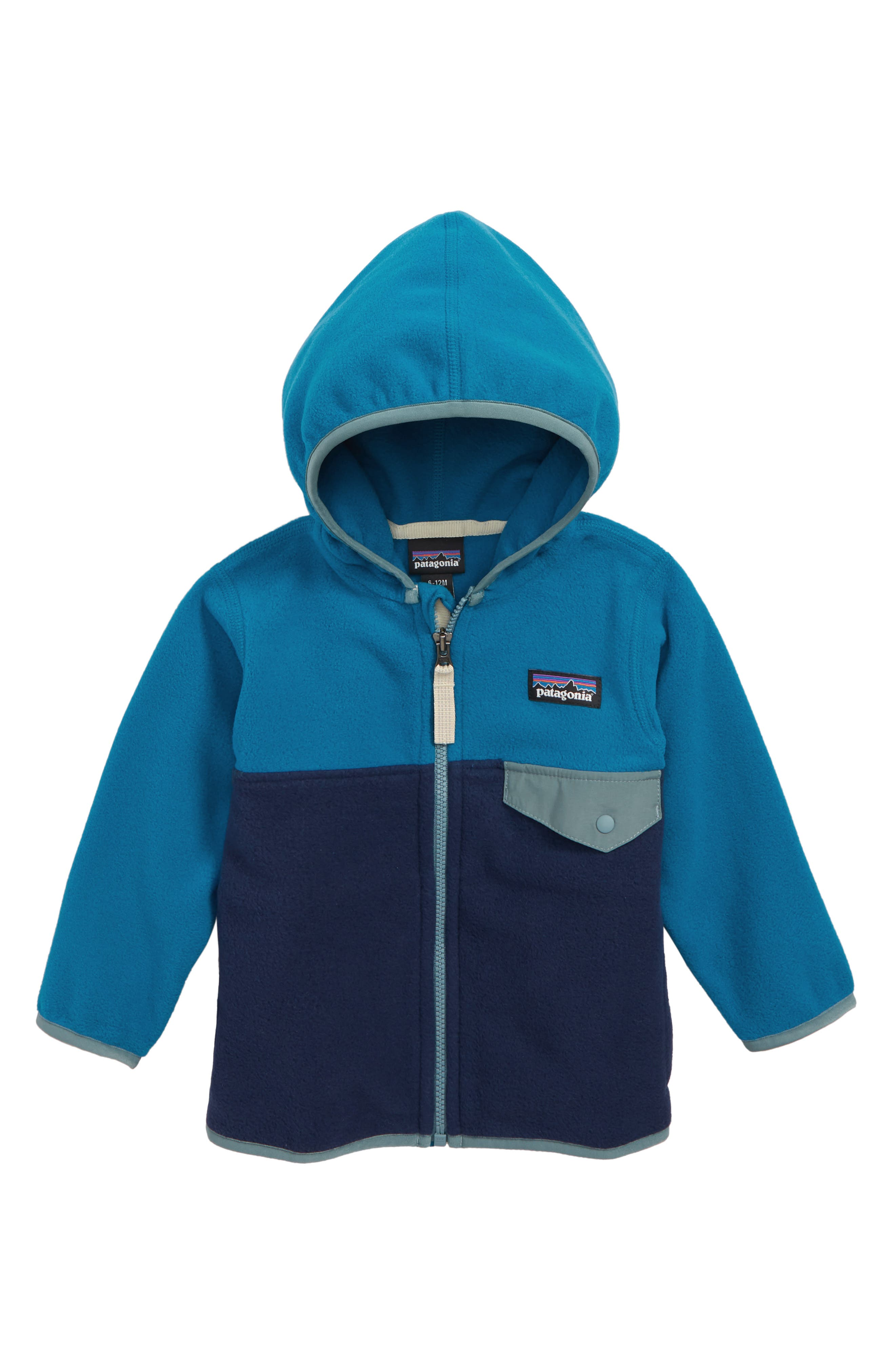 Micro D<sup>®</sup> Snap-T<sup>®</sup> Fleece Jacket,                         Main,                         color, CNY CLASSIC NAVY