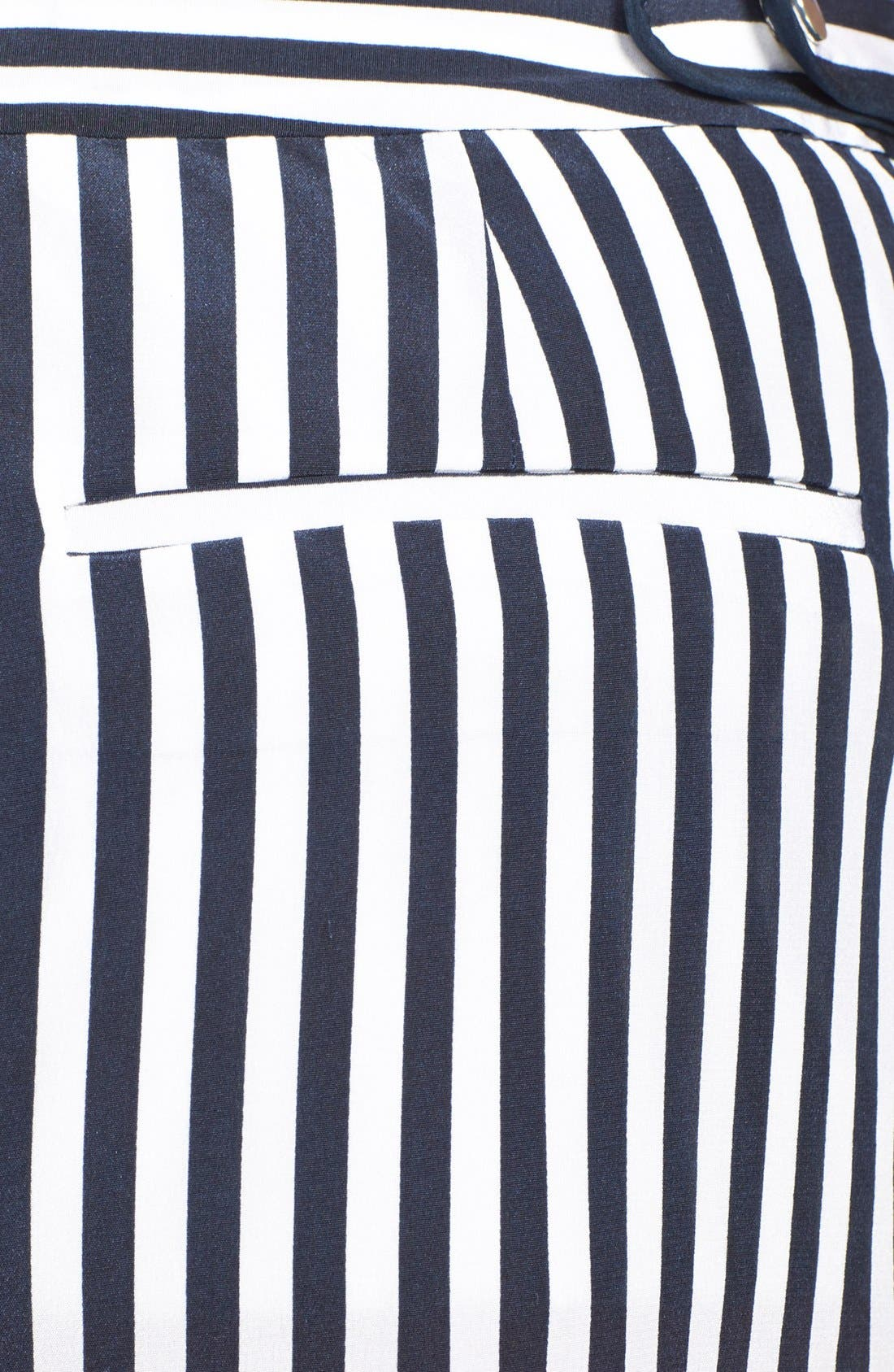 'Tiffany' Stripe Silk Shorts,                             Alternate thumbnail 3, color,