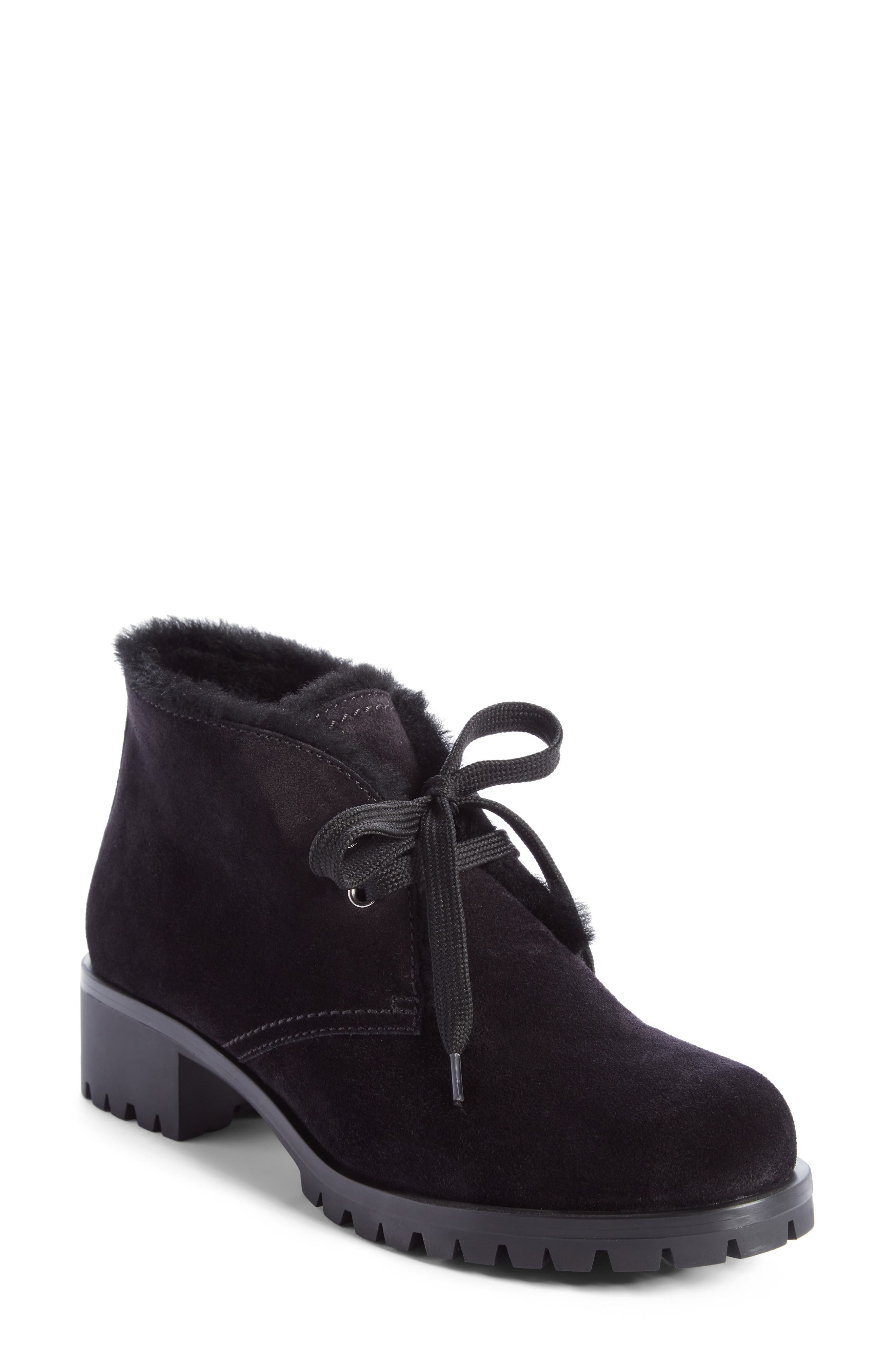 Genuine Shearling Lined Bootie,                             Main thumbnail 1, color,                             001