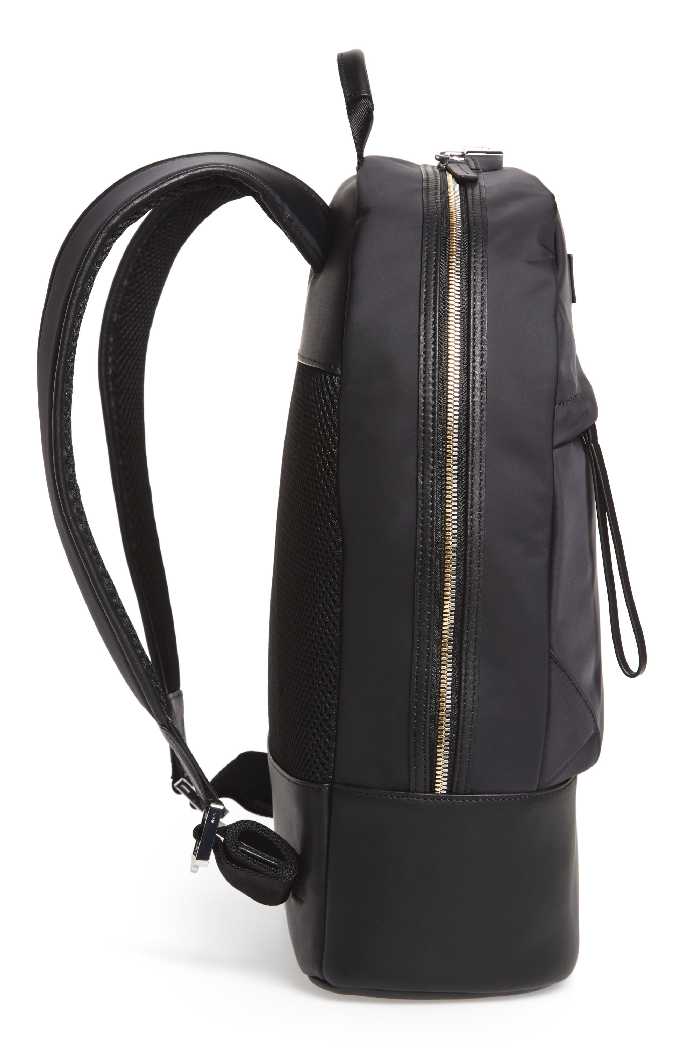 'Kastrup' Backpack,                             Alternate thumbnail 5, color,                             BLACK NYLON