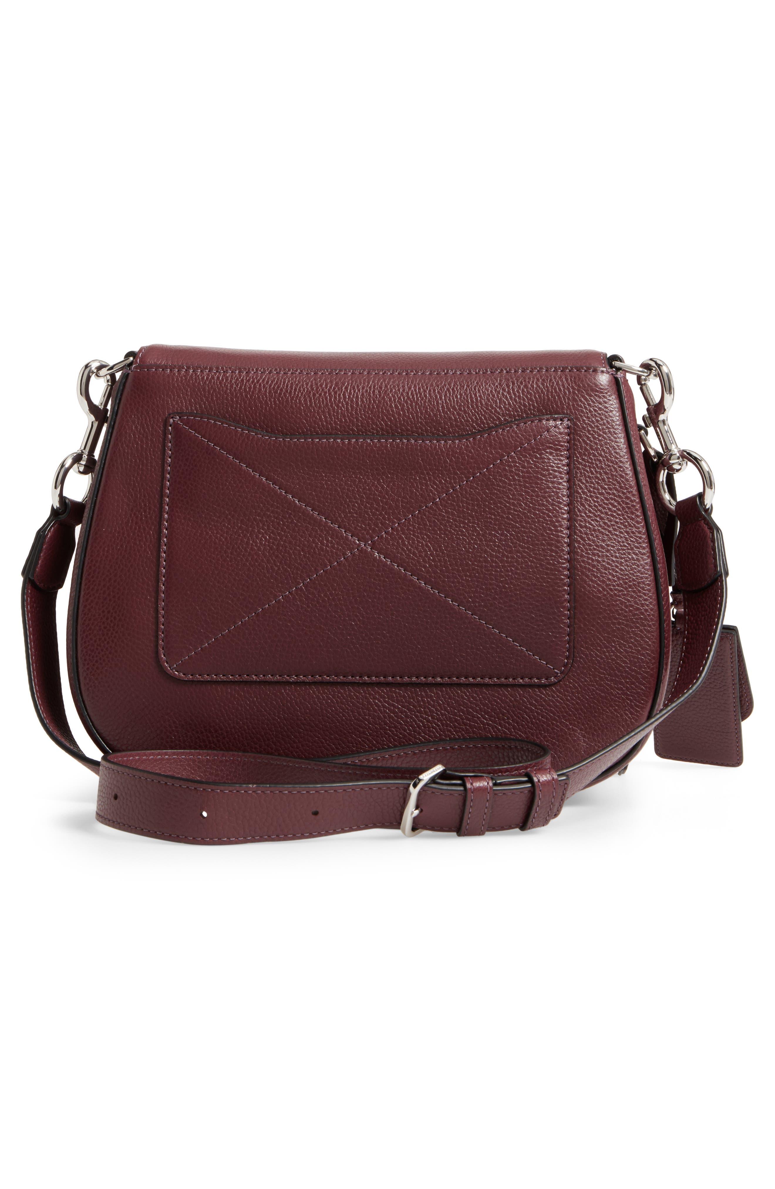 Recruit Nomad Pebbled Leather Crossbody Bag,                             Alternate thumbnail 3, color,                             538