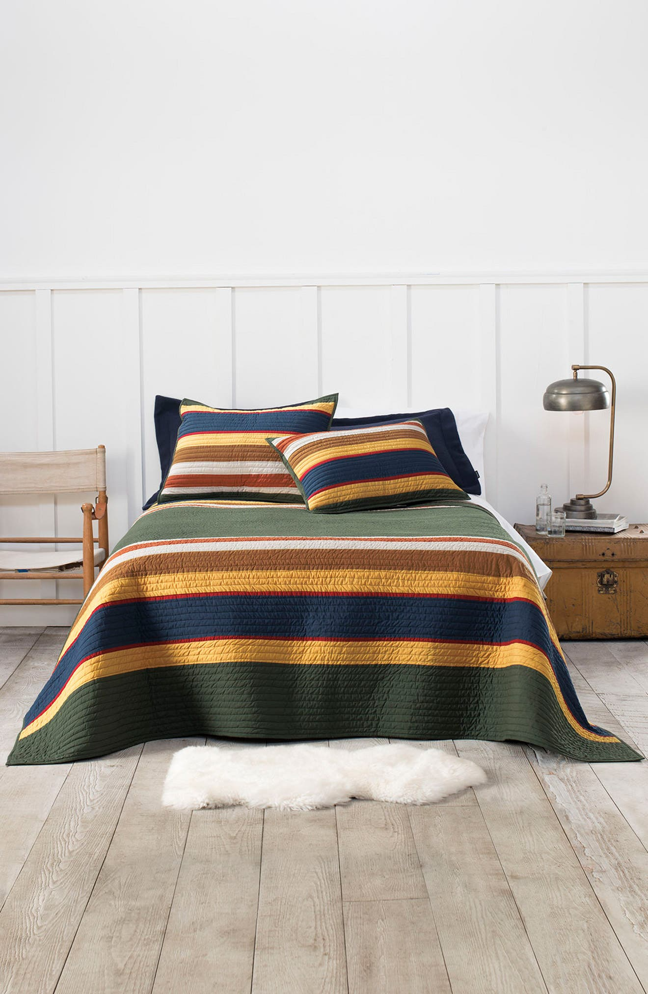 National Park Stripe Quilt & Sham Set,                         Main,                         color, 300