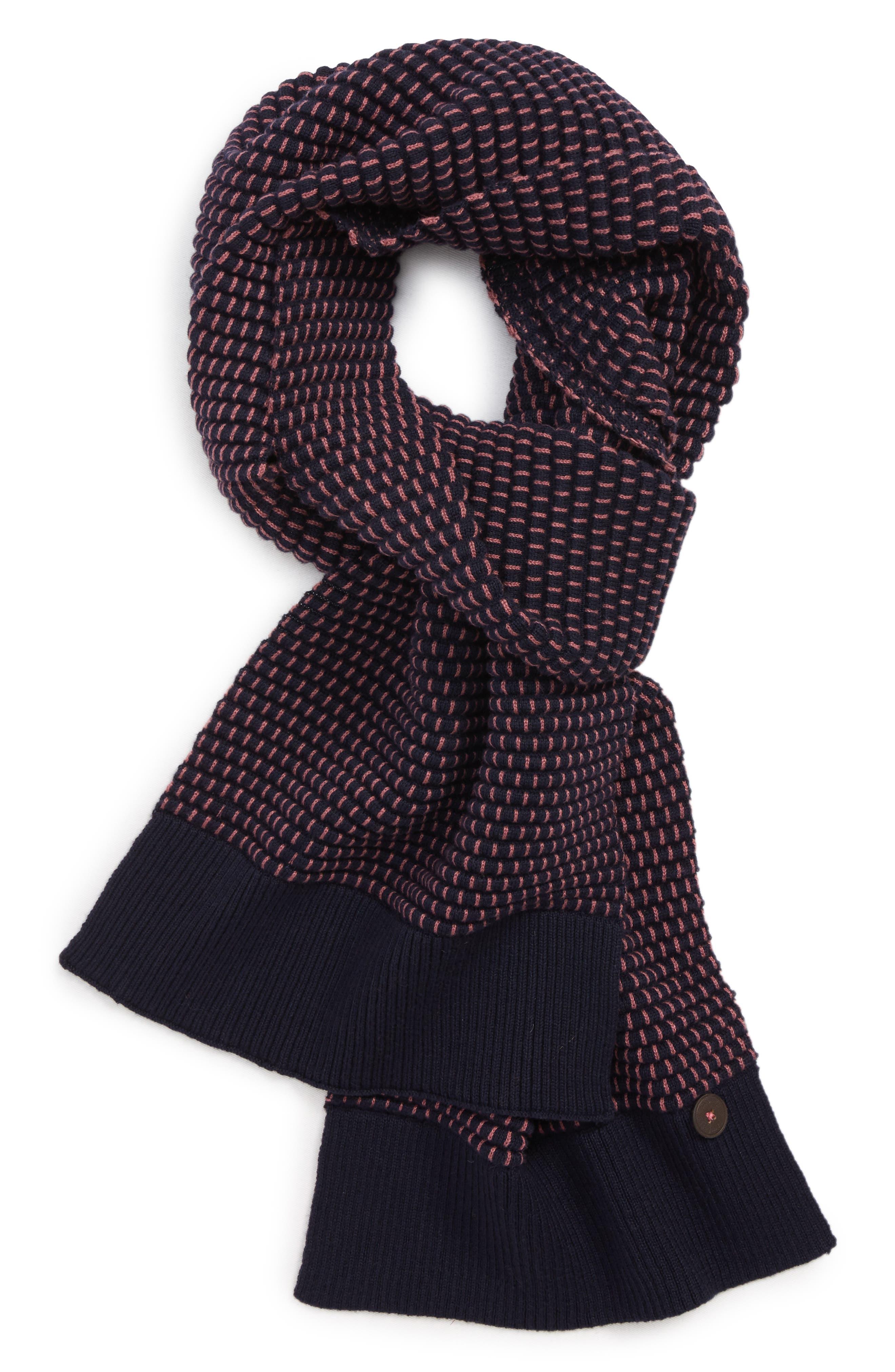 Ottoman Rib Knit Scarf,                             Main thumbnail 1, color,                             660
