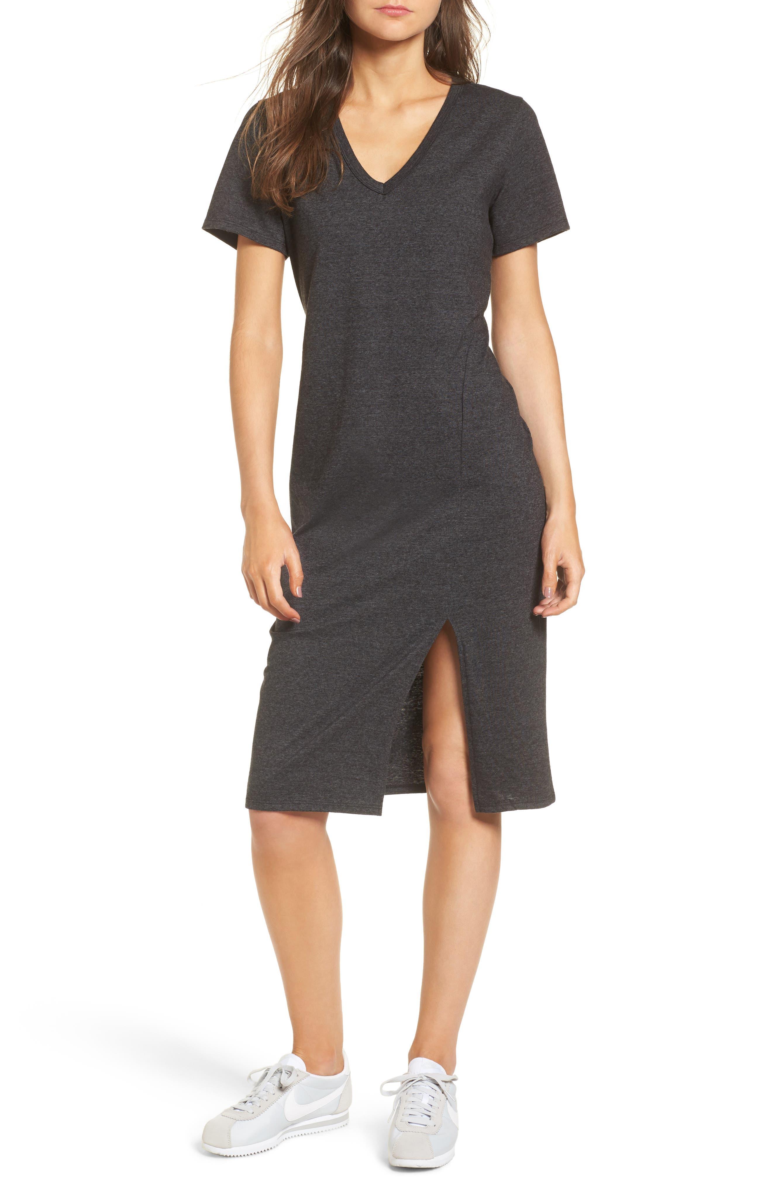 Knee Length T-Shirt Dress,                         Main,                         color, 034