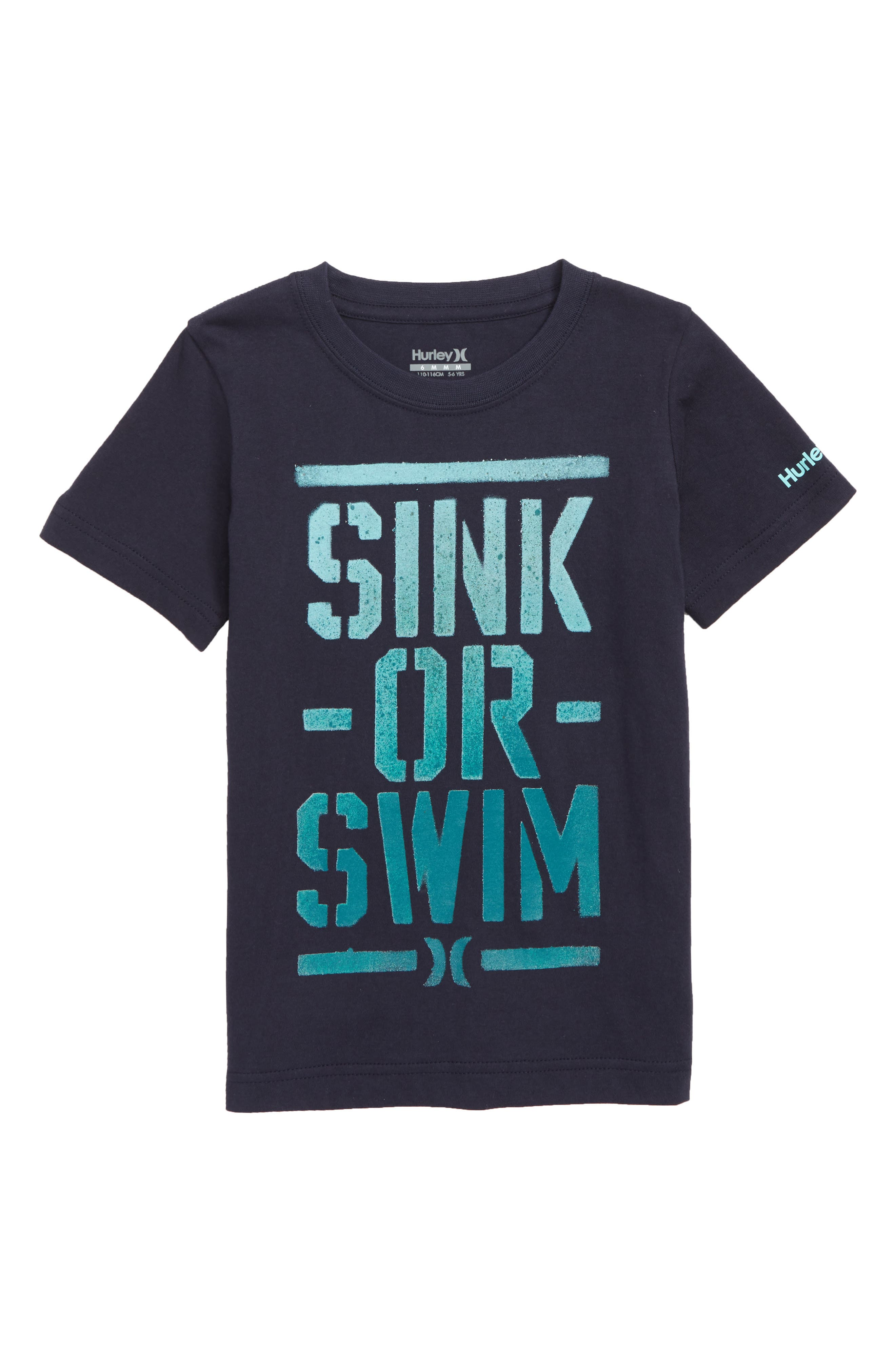 Don't Sink Graphic T-Shirt,                             Main thumbnail 1, color,                             OBSIDIAN