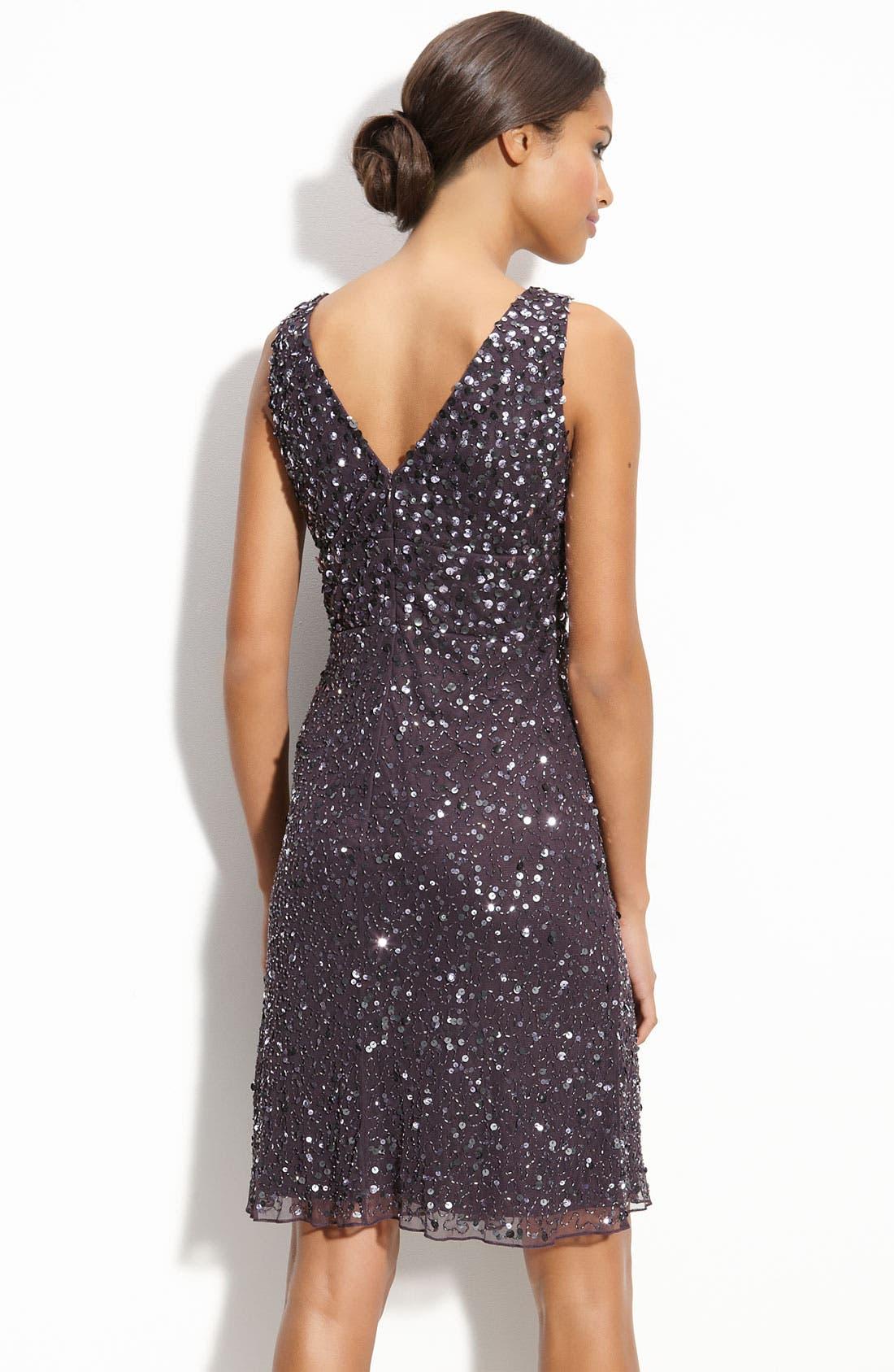 PATRA,                             Sequin Mesh Dress,                             Alternate thumbnail 2, color,                             206