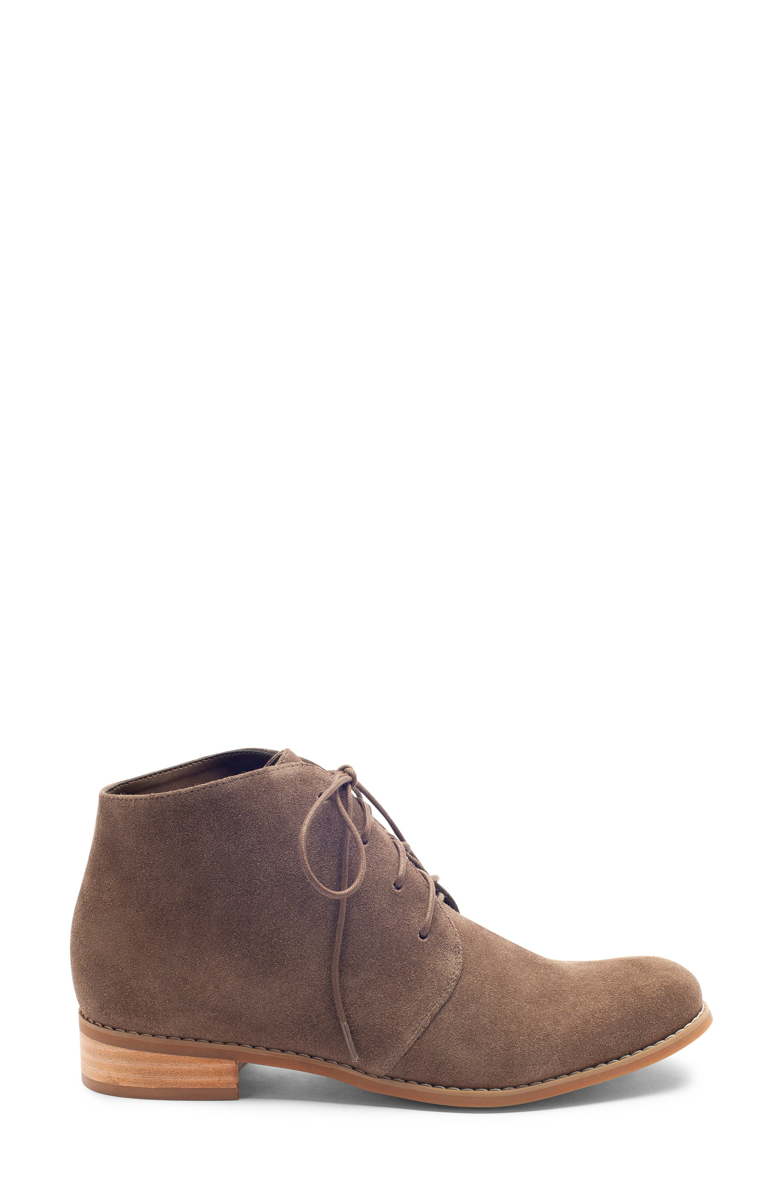 Rayann Waterproof Desert Boot,                             Alternate thumbnail 3, color,                             DARK TAUPE SUEDE