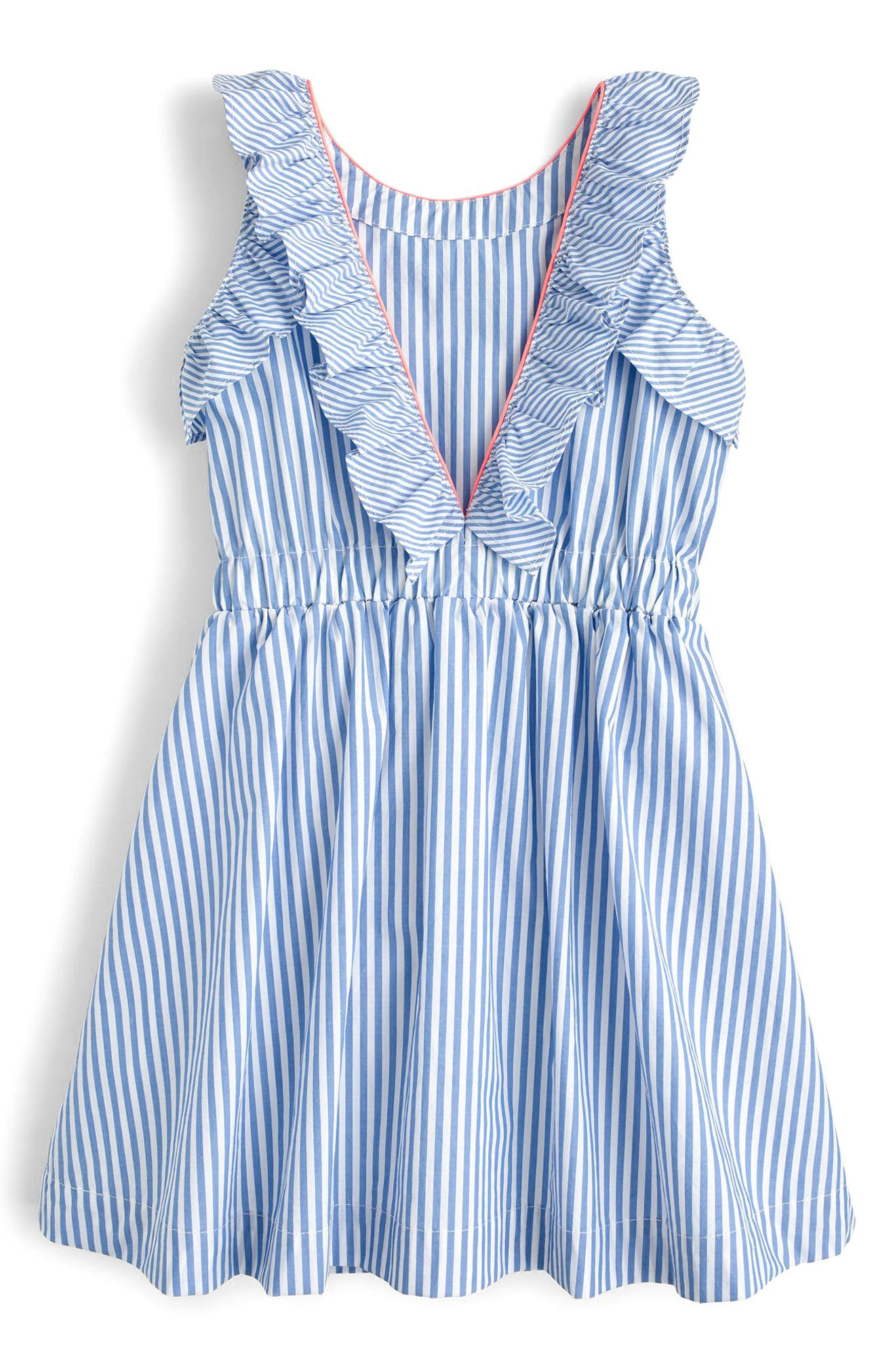 Katia Stripe Ruffle Dress,                             Alternate thumbnail 2, color,                             400