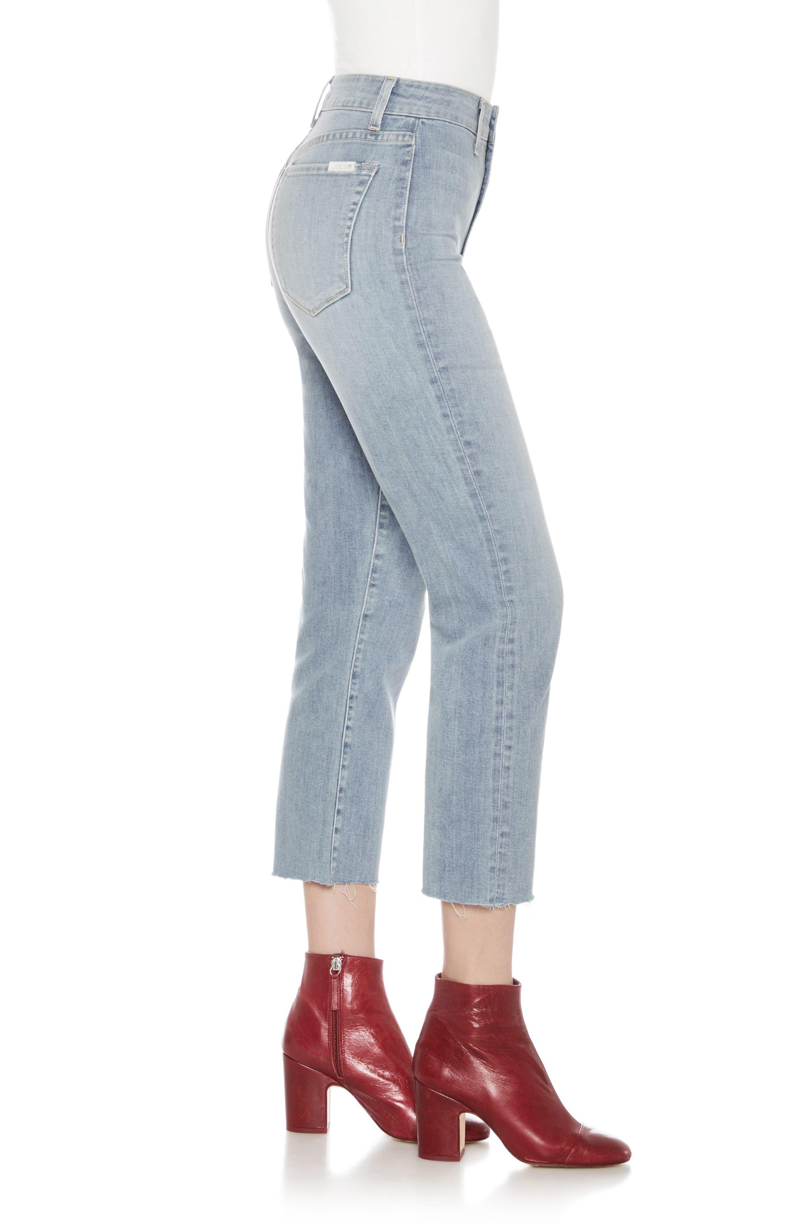 Jane High Waist Crop Boyfriend Jeans,                             Alternate thumbnail 3, color,                             415