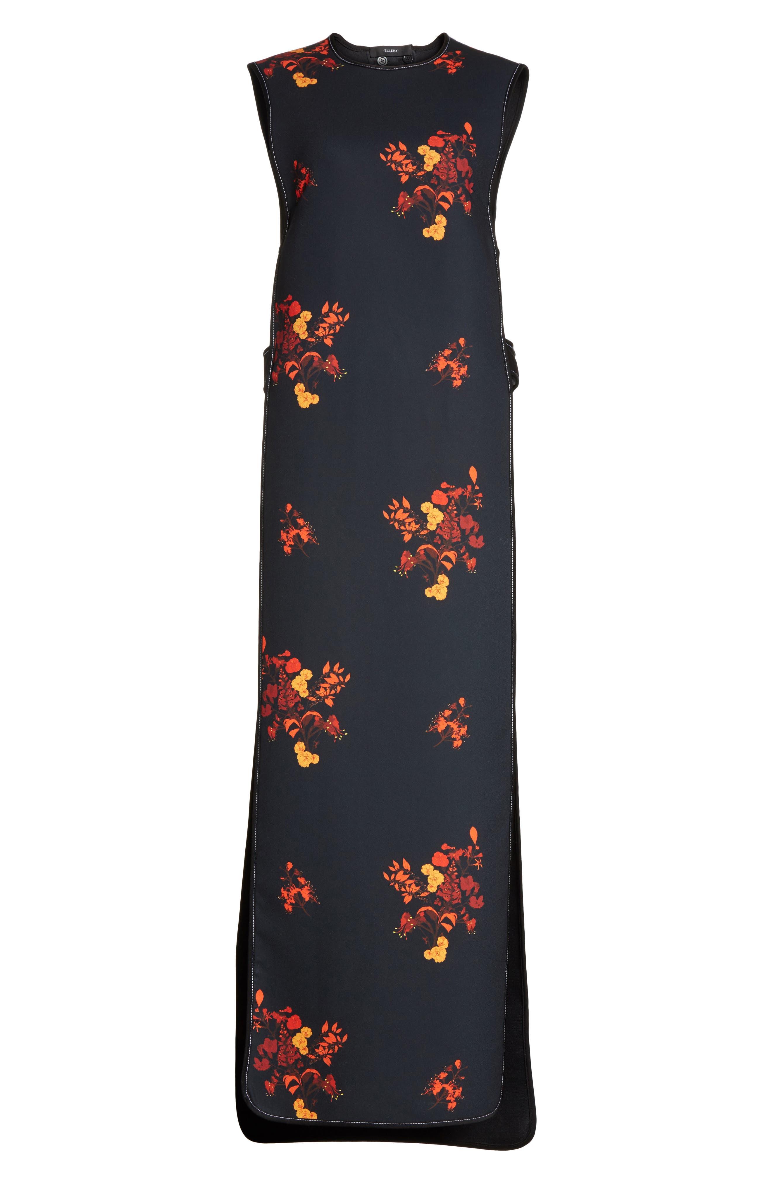 Judy Sleeveless Crepe Tunic Dress,                             Alternate thumbnail 6, color,                             800