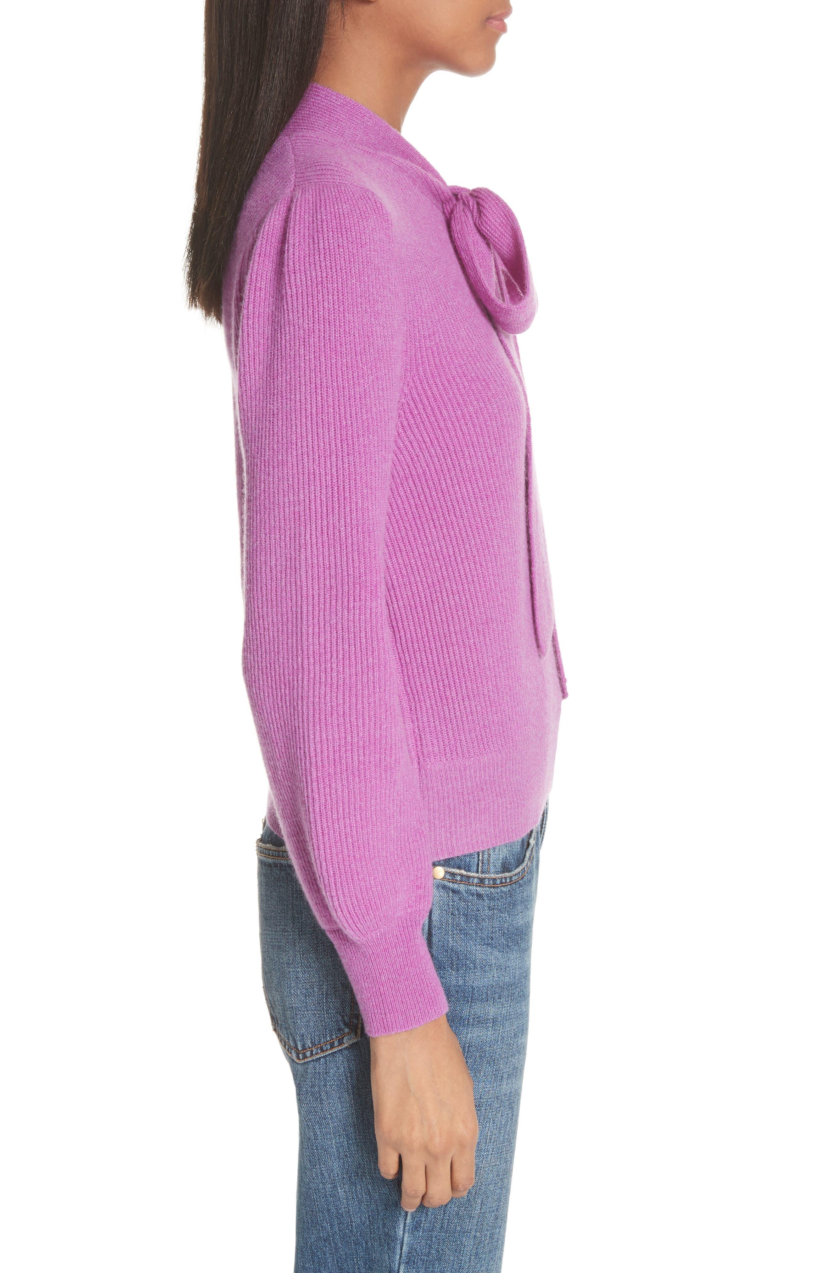 CO,                             Tie Neck Cashmere Sweater,                             Alternate thumbnail 3, color,                             679