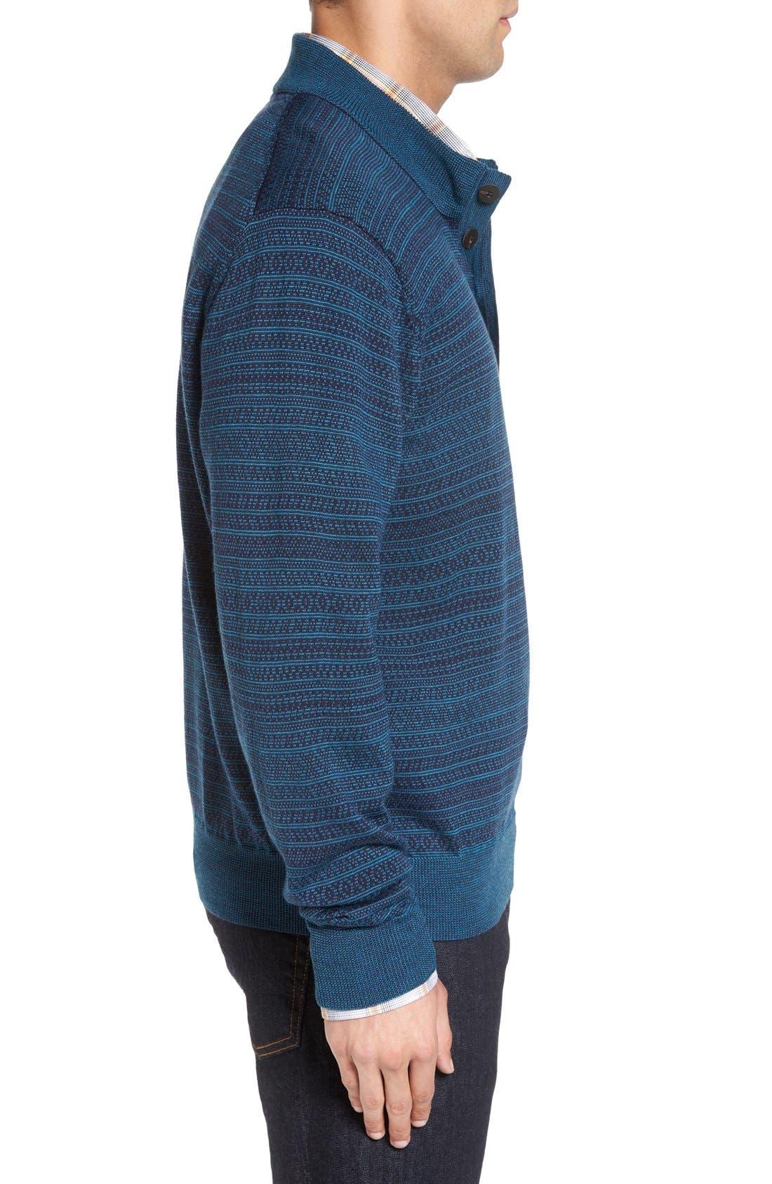 'Douglas Forest' Jacquard Wool Blend Sweater,                             Alternate thumbnail 4, color,