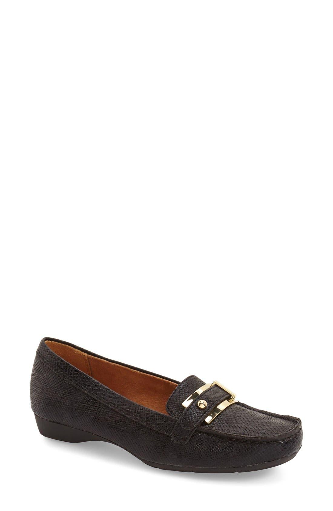'Gisella' Loafer,                         Main,                         color, BLACK PRINTED LIZARD
