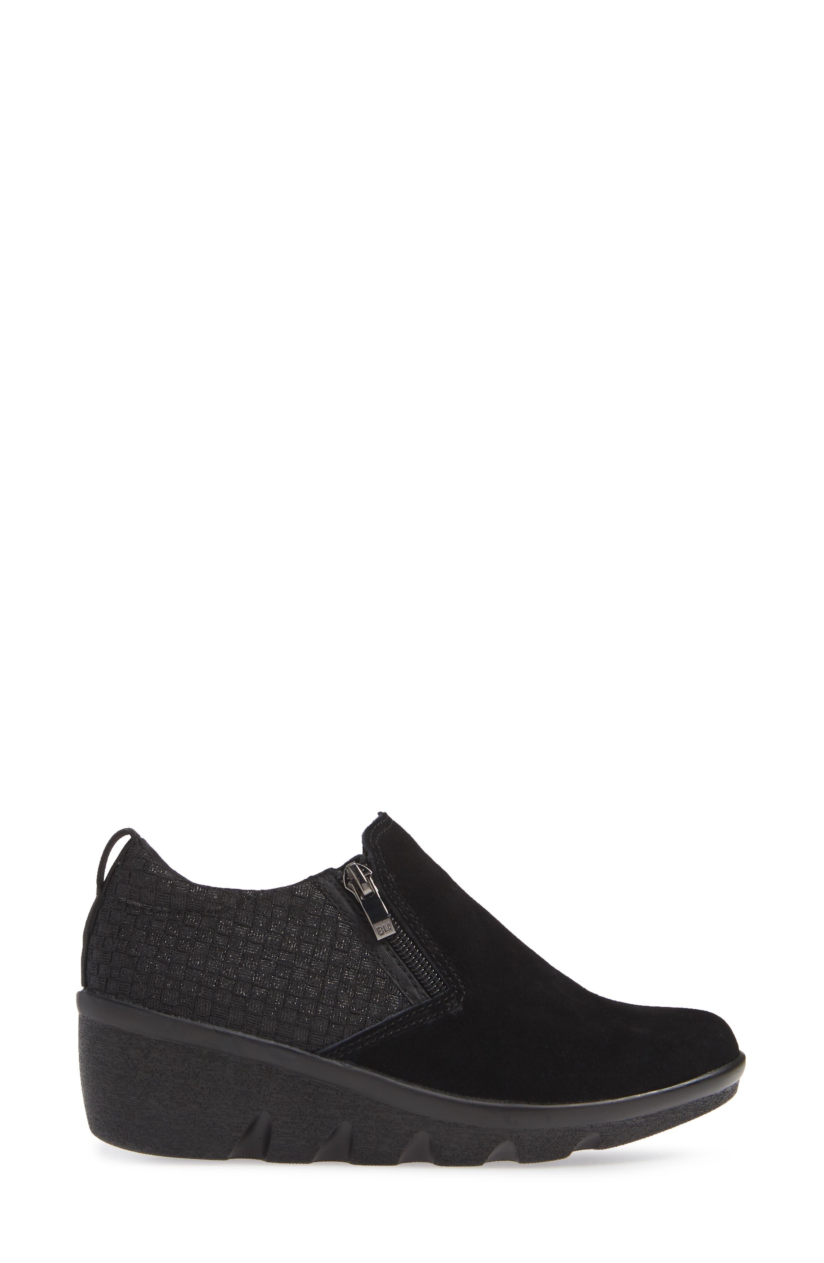 Lihi Ankle Boot,                             Alternate thumbnail 3, color,                             BLACK METALLIC LEATHER