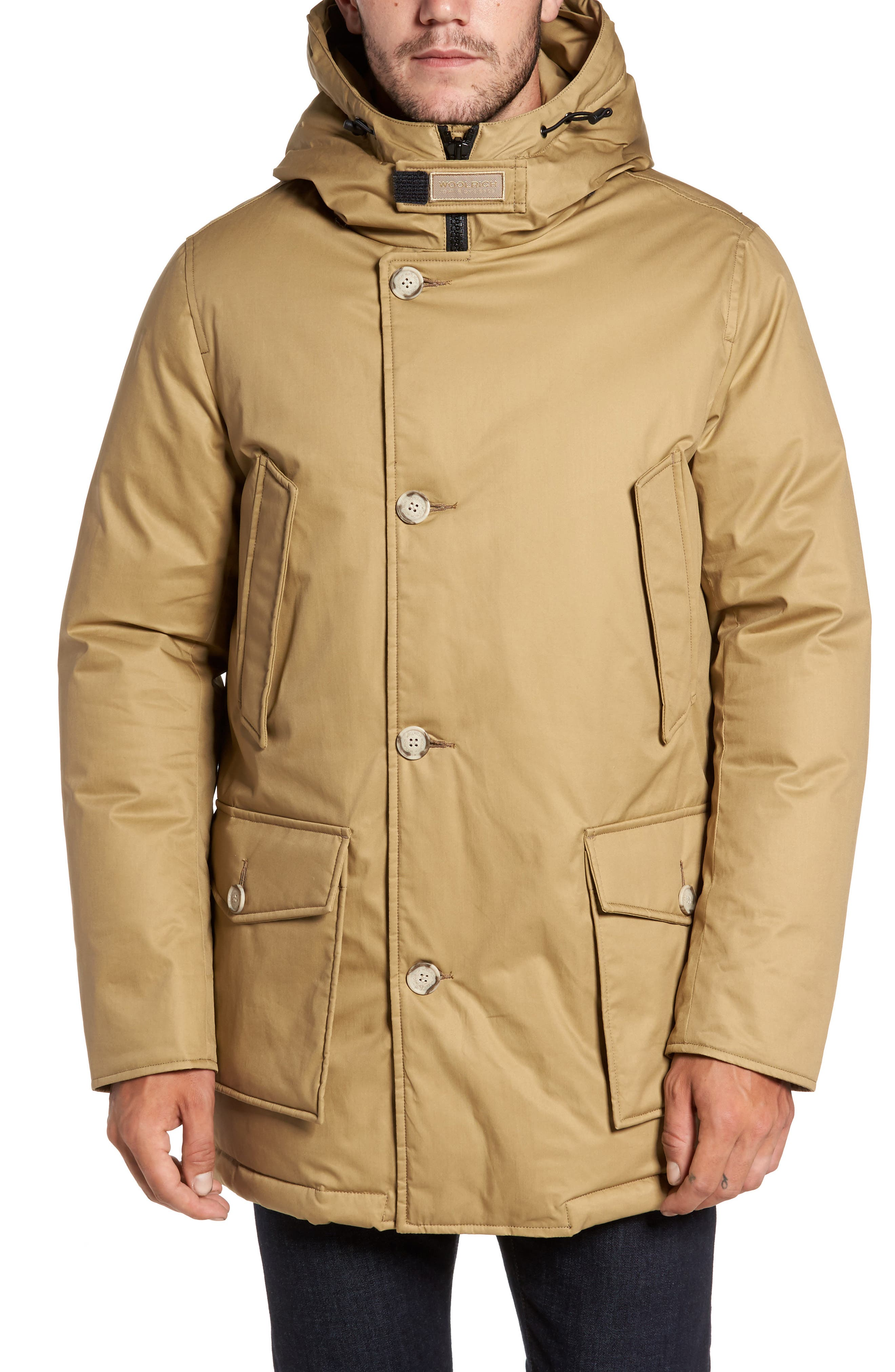 John Rich & Bros. Laminated Cotton Down Parka with Genuine Coyote Fur Trim,                             Main thumbnail 2, color,