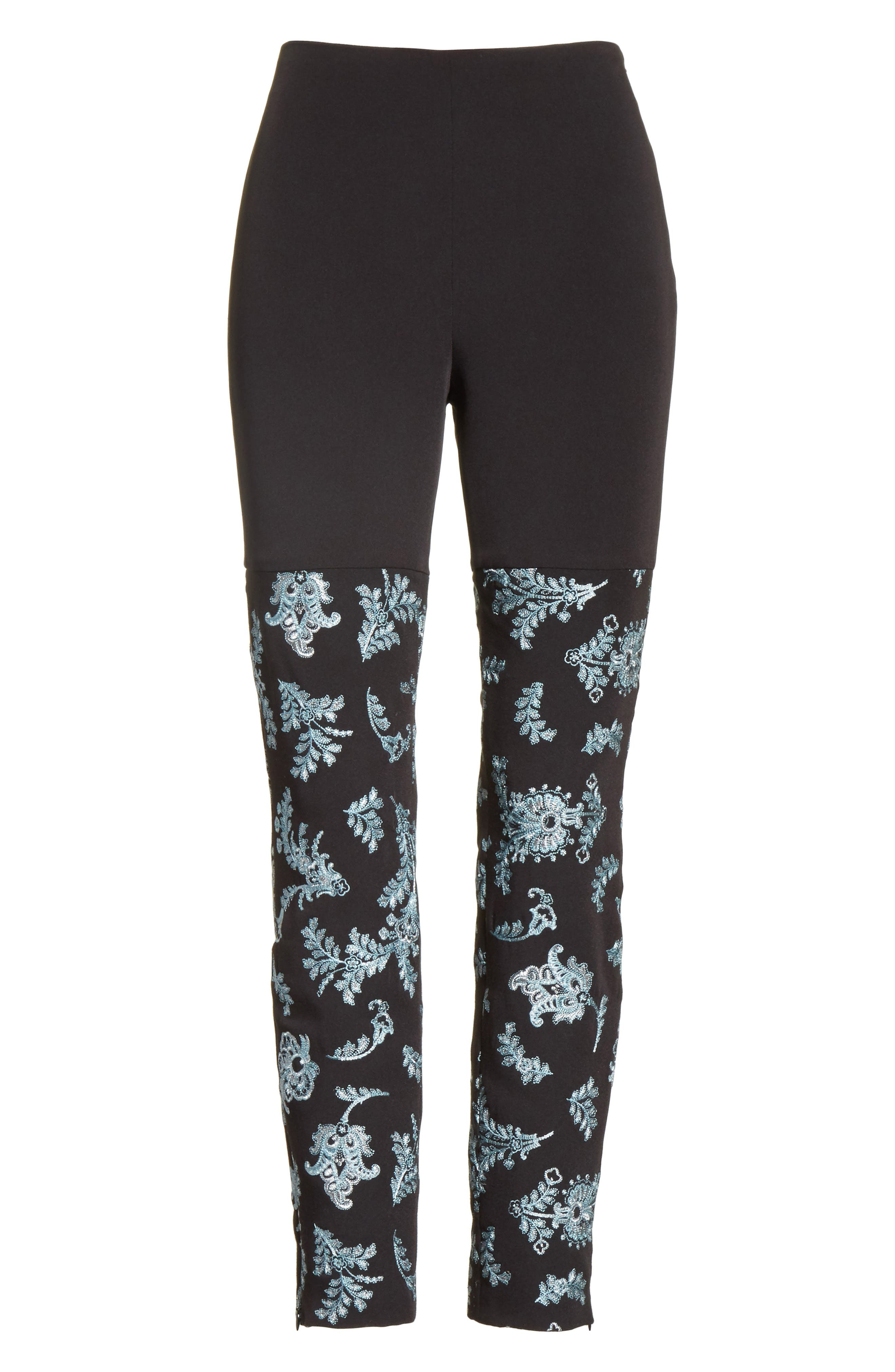 Marin Embroidered Leggings,                             Alternate thumbnail 6, color,