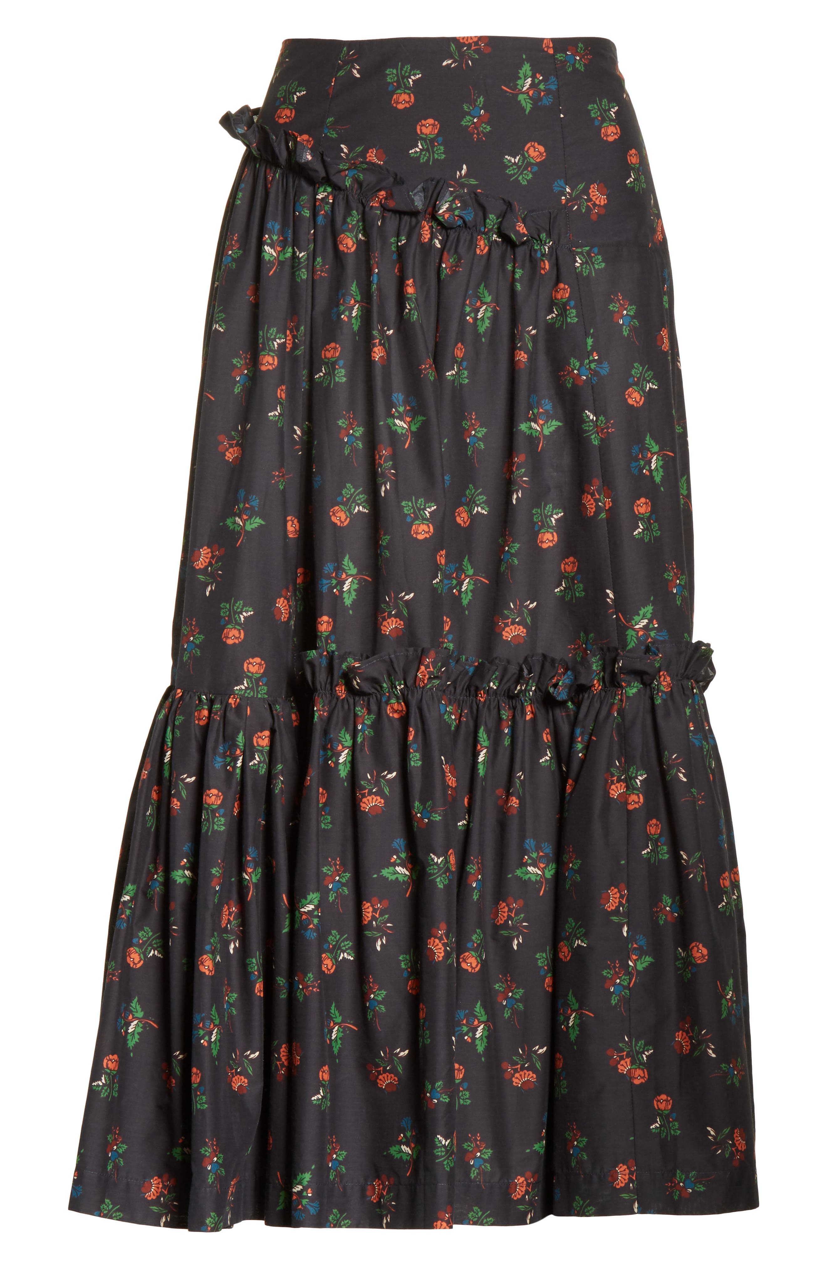 Tracey Floral Skirt,                             Alternate thumbnail 6, color,                             001