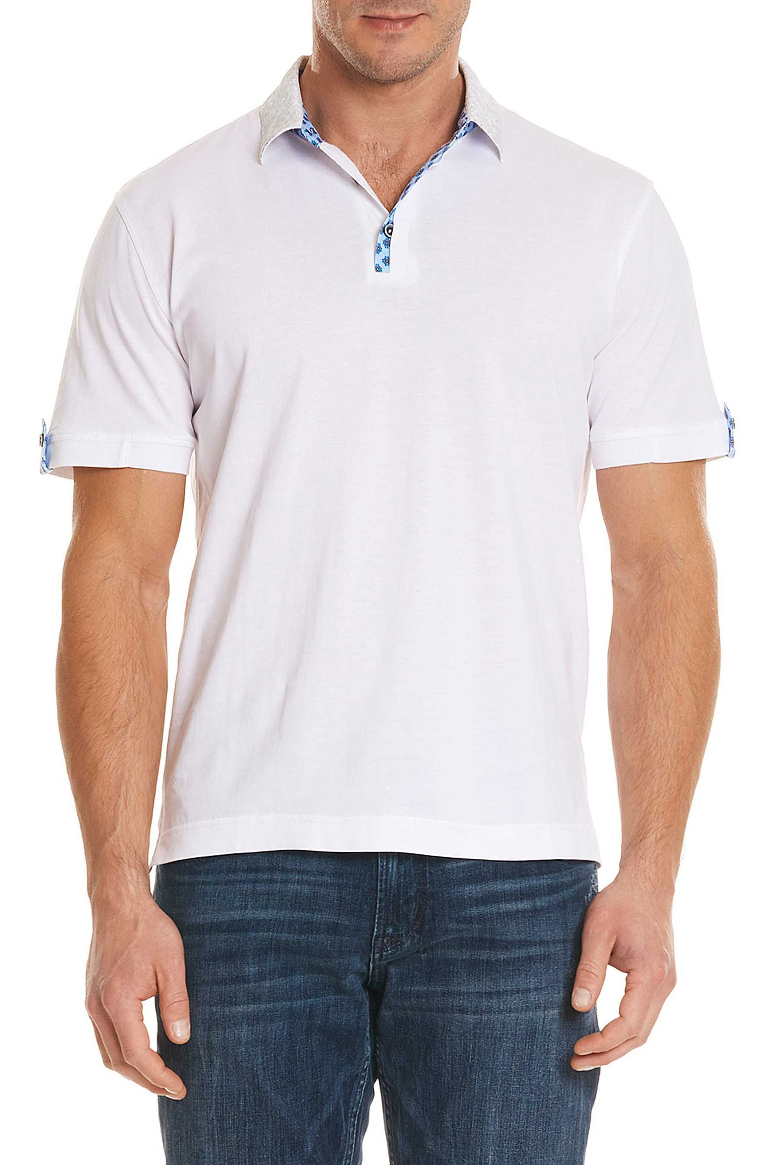 Diego Classic Fit Polo,                             Main thumbnail 1, color,                             WHITE