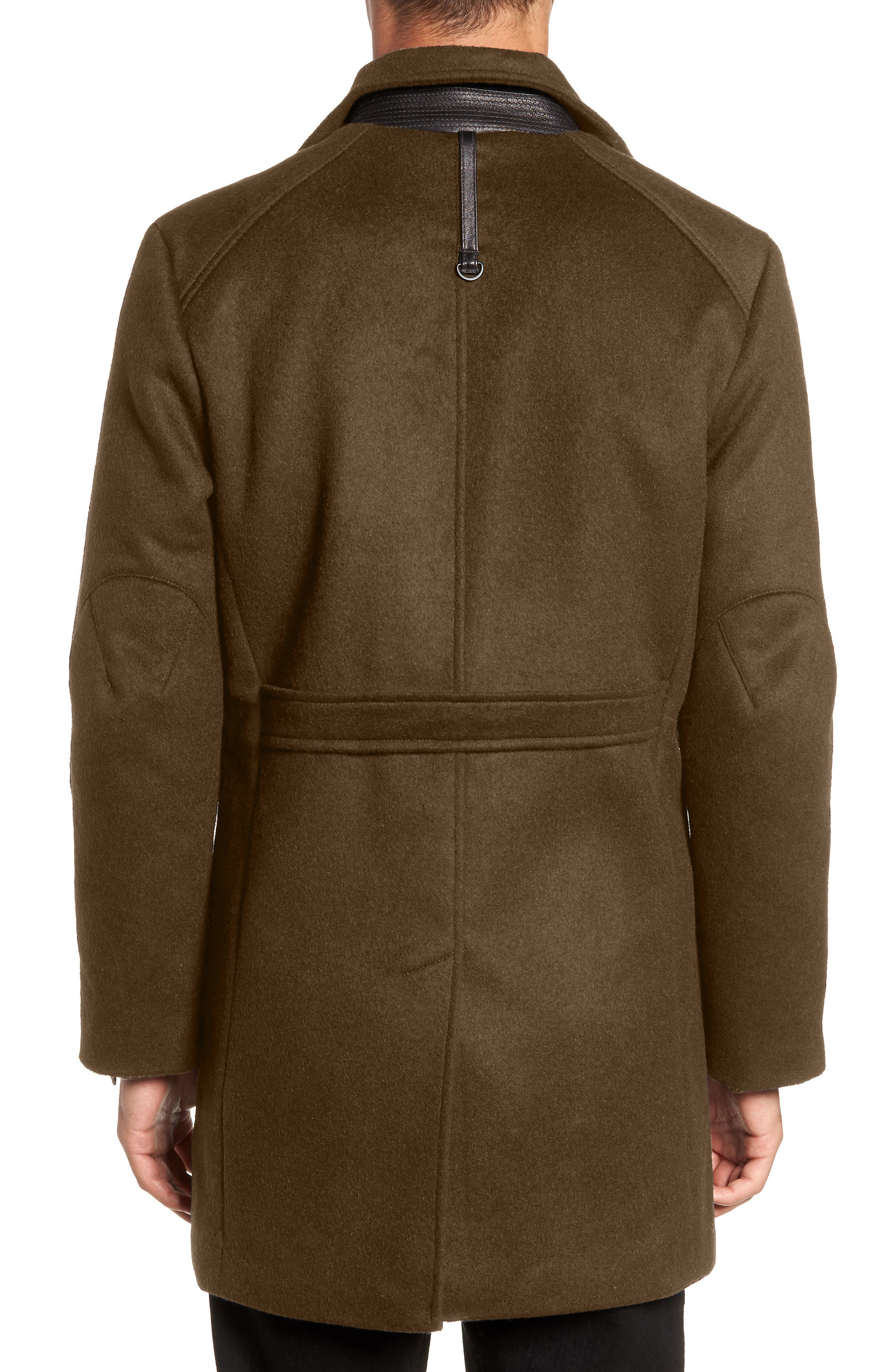 W.R.K,                             Kilo Slim Fit Wool Blend Coat,                             Alternate thumbnail 2, color,                             OLIVE