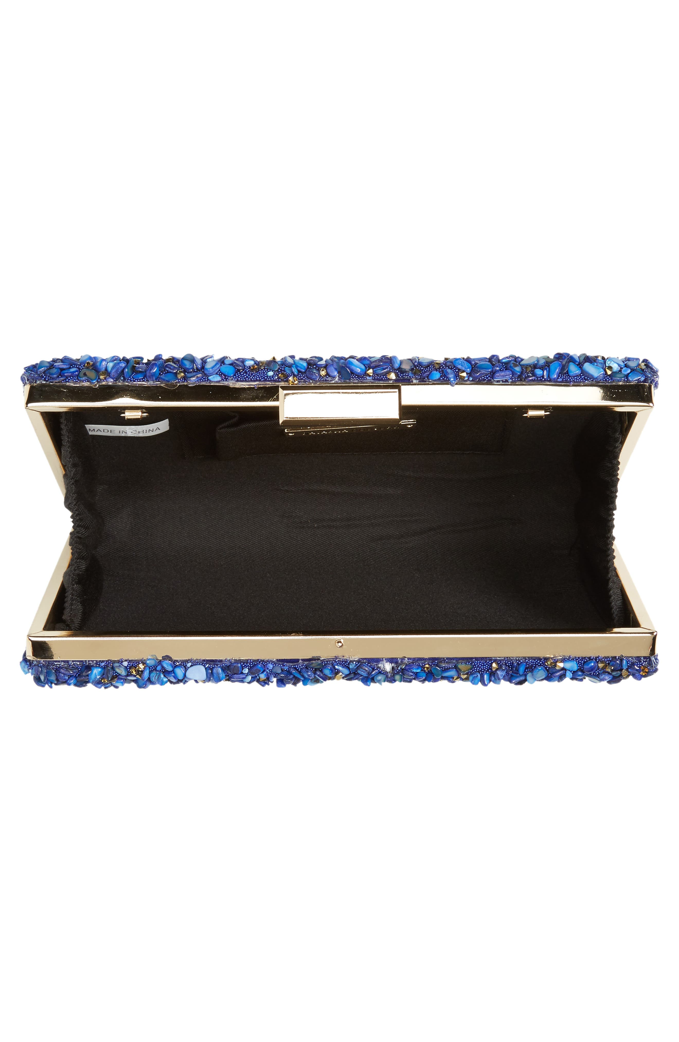 Chips Embellished Box Clutch,                             Alternate thumbnail 13, color,