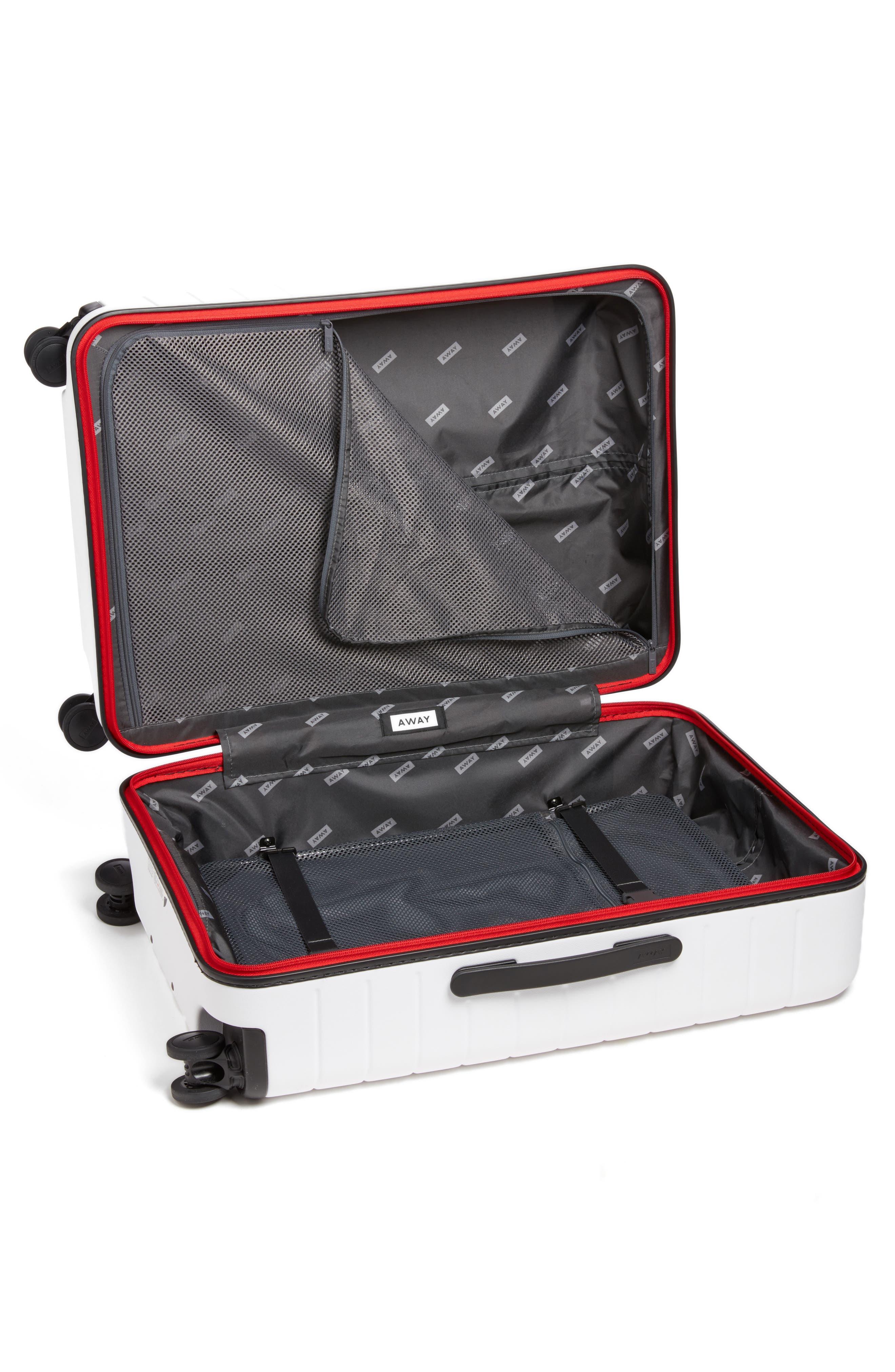 The Medium Suitcase,                             Alternate thumbnail 2, color,                             WHITE/ MULTI
