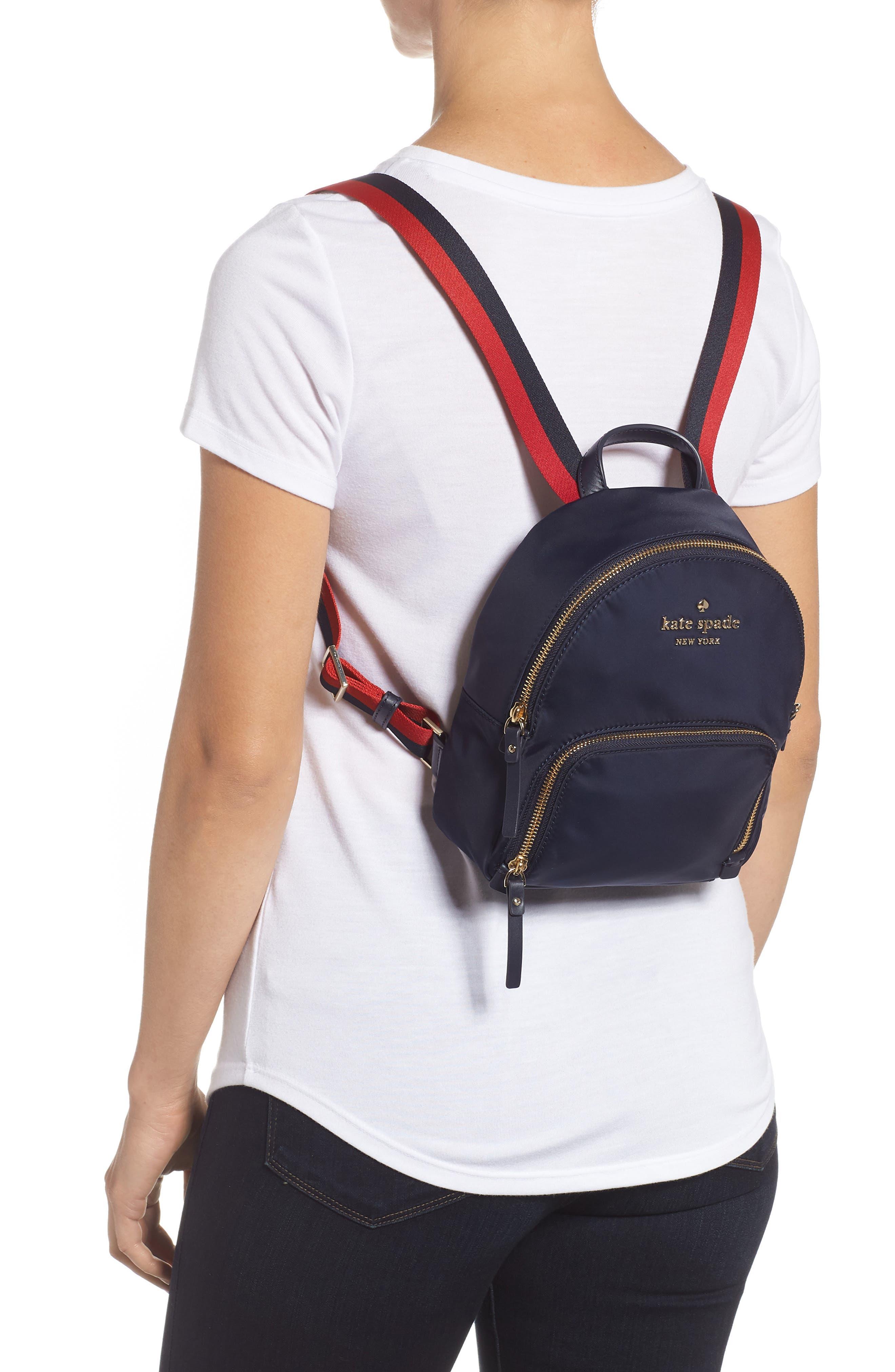 KATE SPADE NEW YORK,                             kate spade watson lane varsity stripe small backpack,                             Alternate thumbnail 2, color,                             400