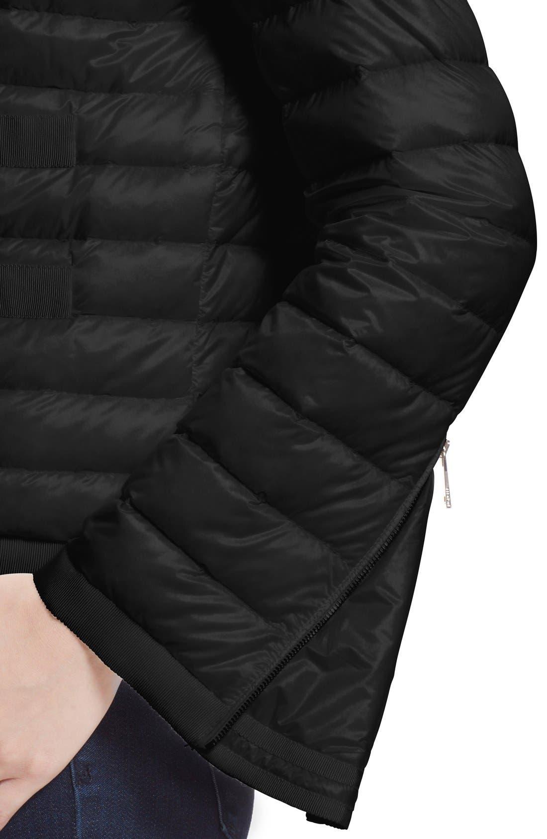 'Alose' Water Resistant Short Puffer Jacket,                             Alternate thumbnail 4, color,                             001