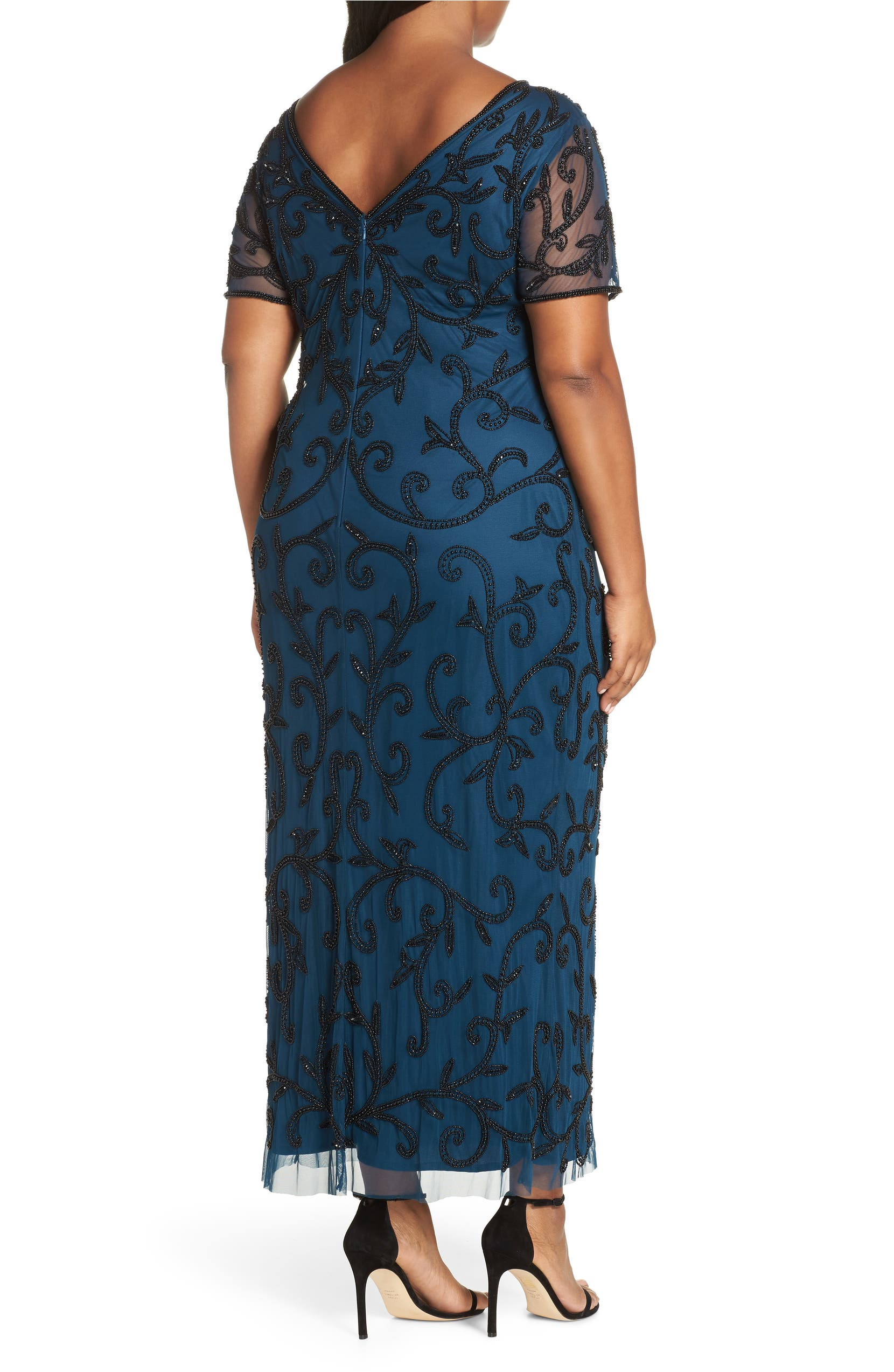 6fc148edc78 Pisarro Nights Beaded Illusion Gown (Plus Size)