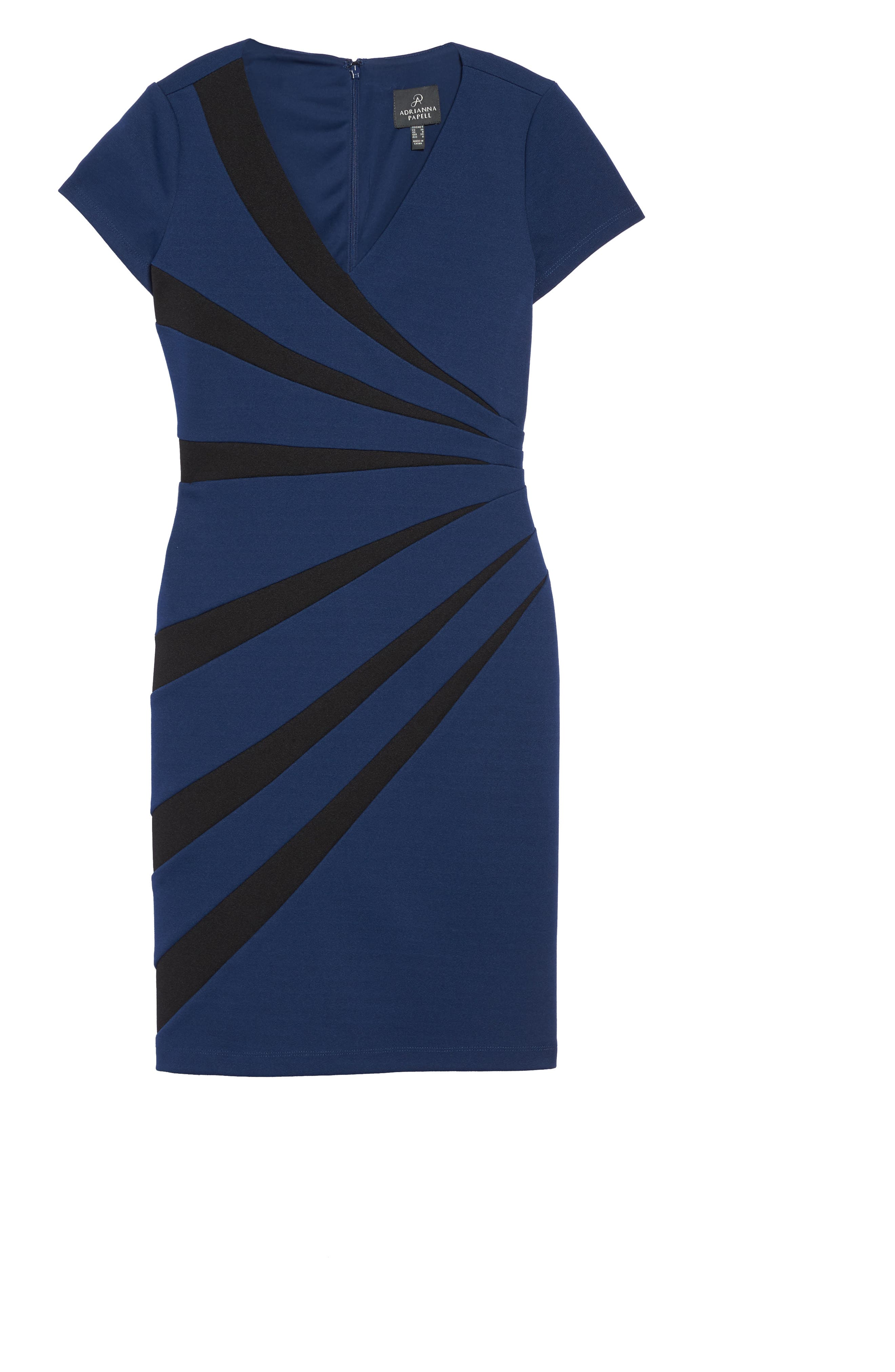 Stripe Sheath Dress,                             Alternate thumbnail 6, color,                             412