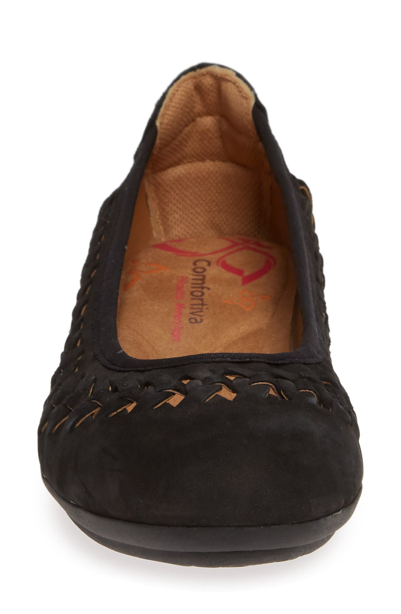 Marilu Flat,                             Alternate thumbnail 4, color,                             BLACK SUEDE