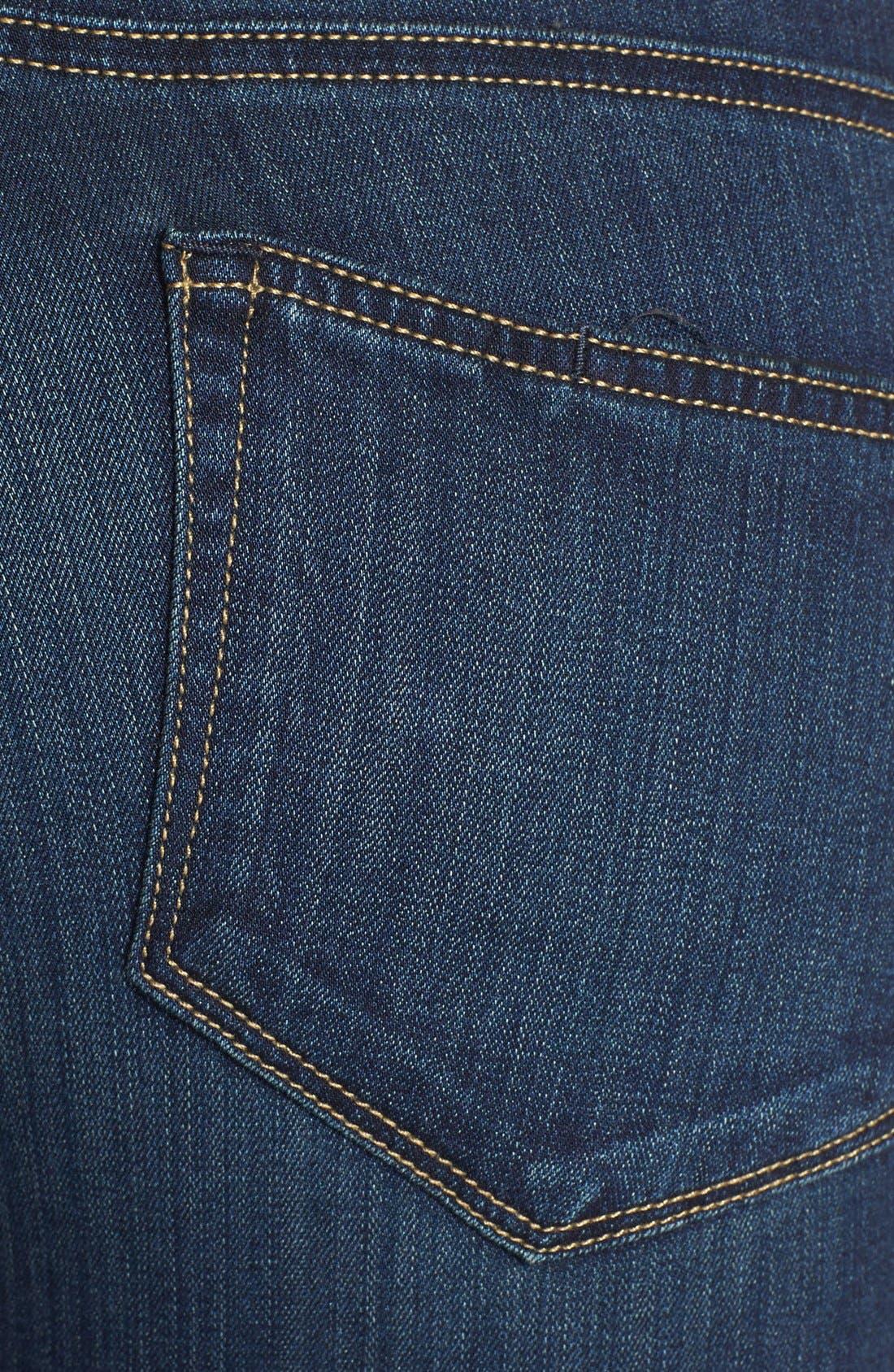 Transcend - Edgemont Zip Detail Ultra Skinny Jeans,                             Alternate thumbnail 4, color,                             400