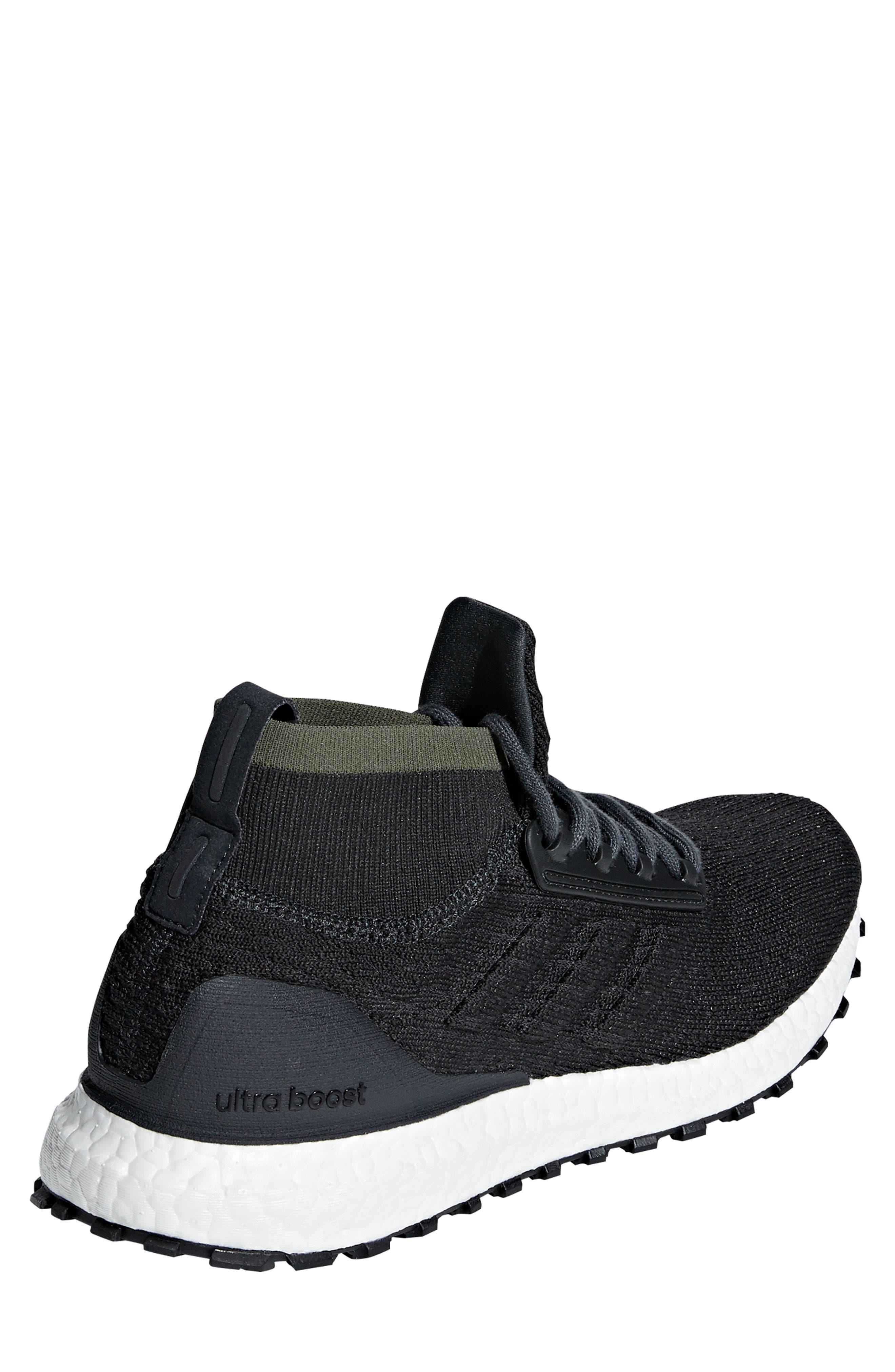 UltraBoost All Terrain Water Resistant Running Shoe,                             Alternate thumbnail 2, color,                             CARBON / CORE BLACK / WHITE