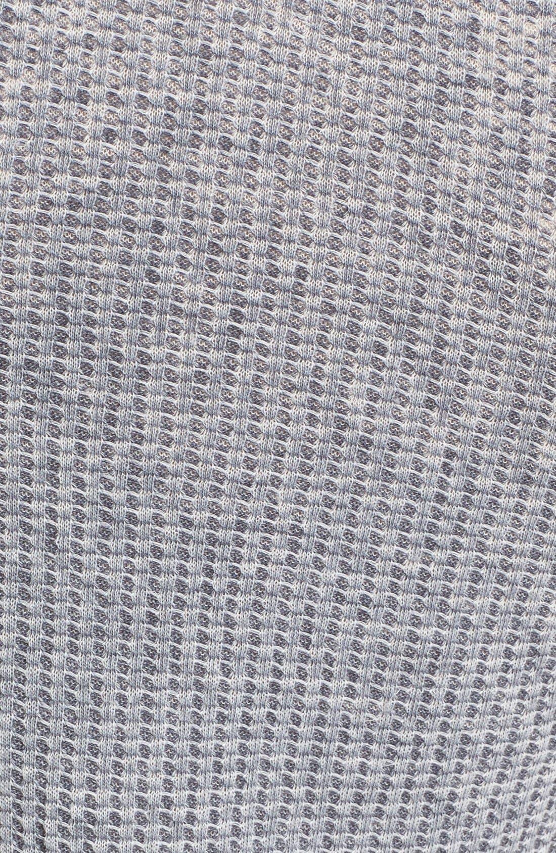 'Arthur' Waffle Knit Tee,                             Alternate thumbnail 3, color,                             001
