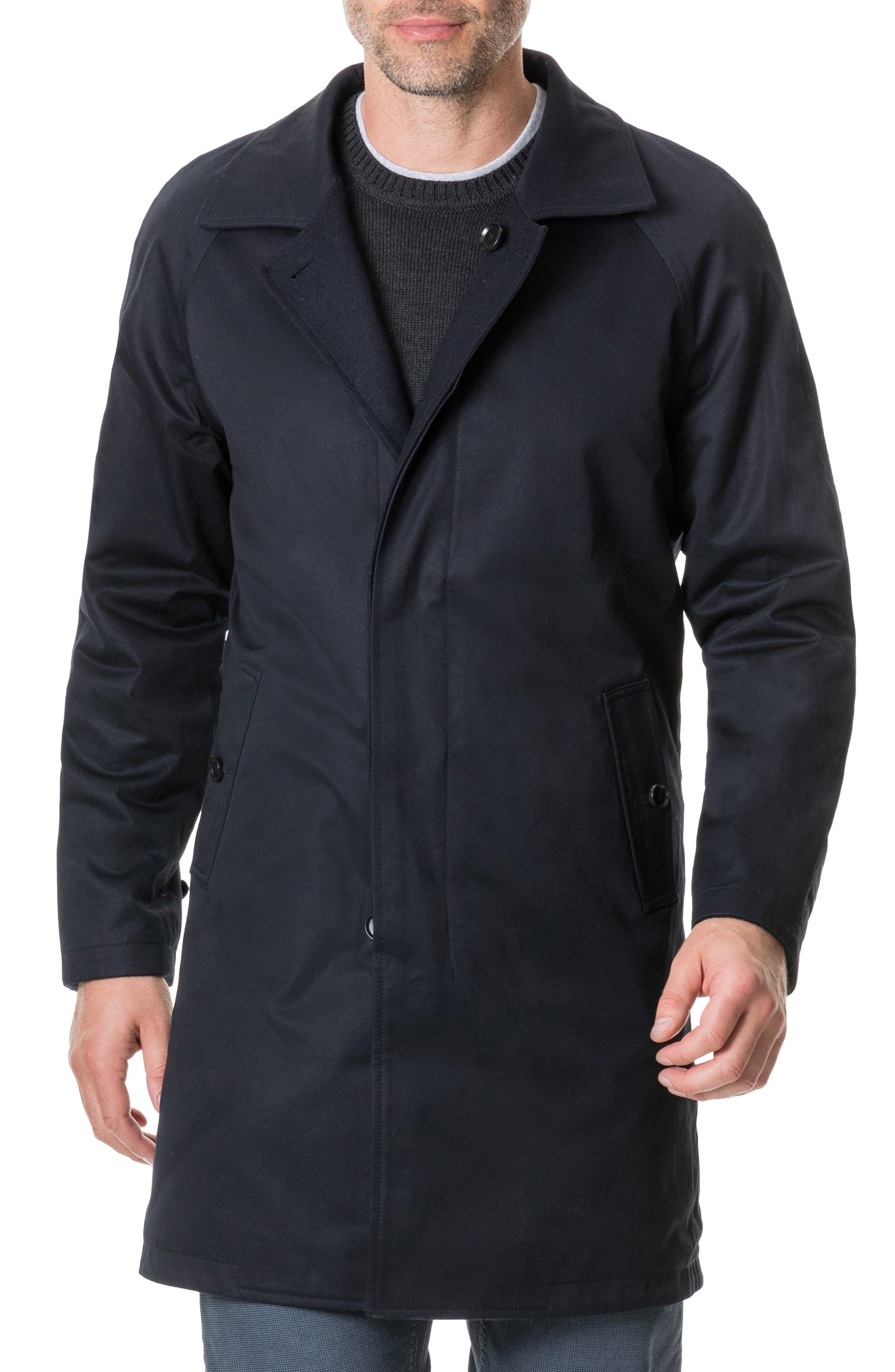 Templars Island Reversible Overcoat,                         Main,                         color, CHARCOAL