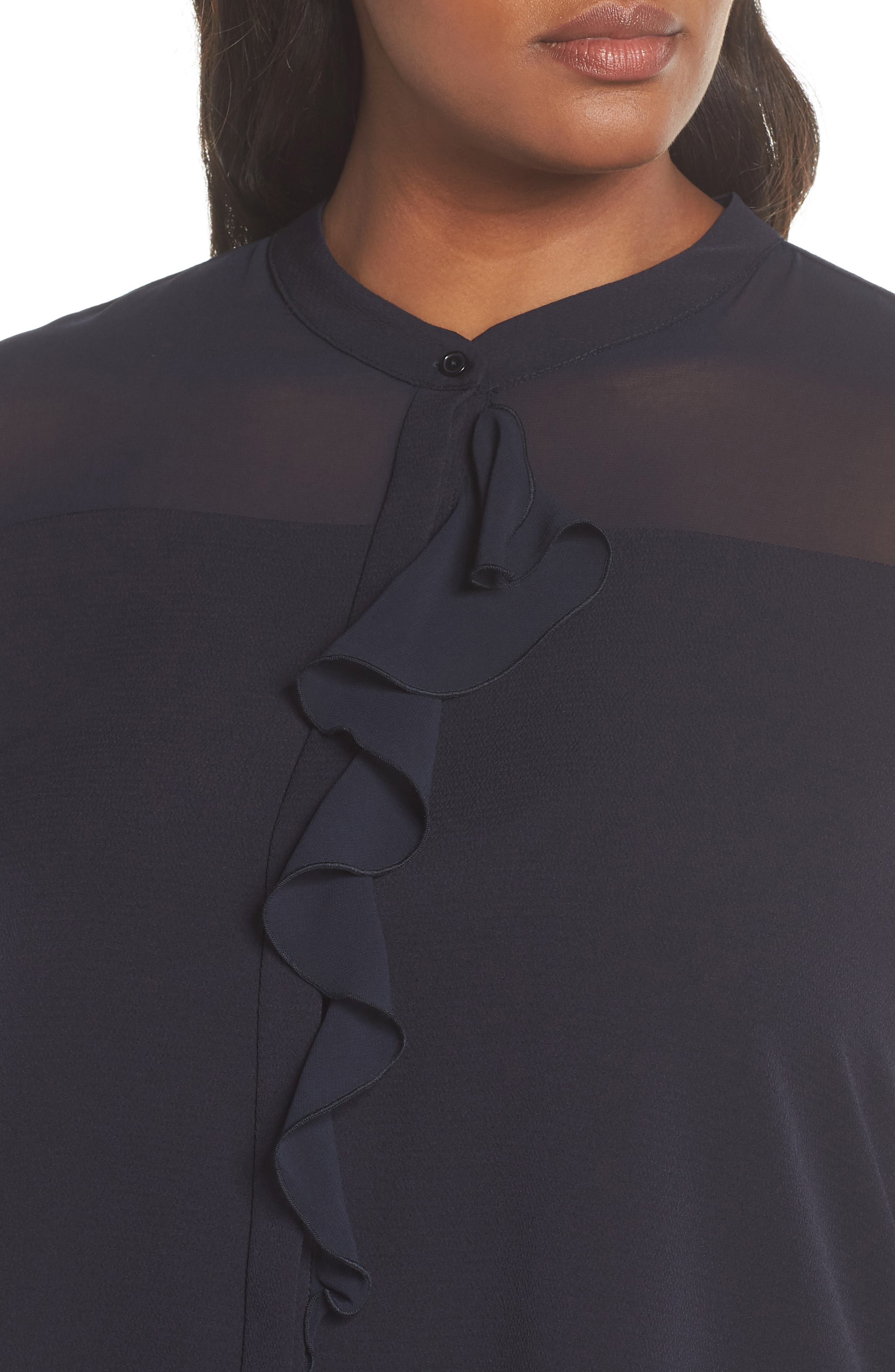 Ruffle Front Top,                             Alternate thumbnail 4, color,                             411