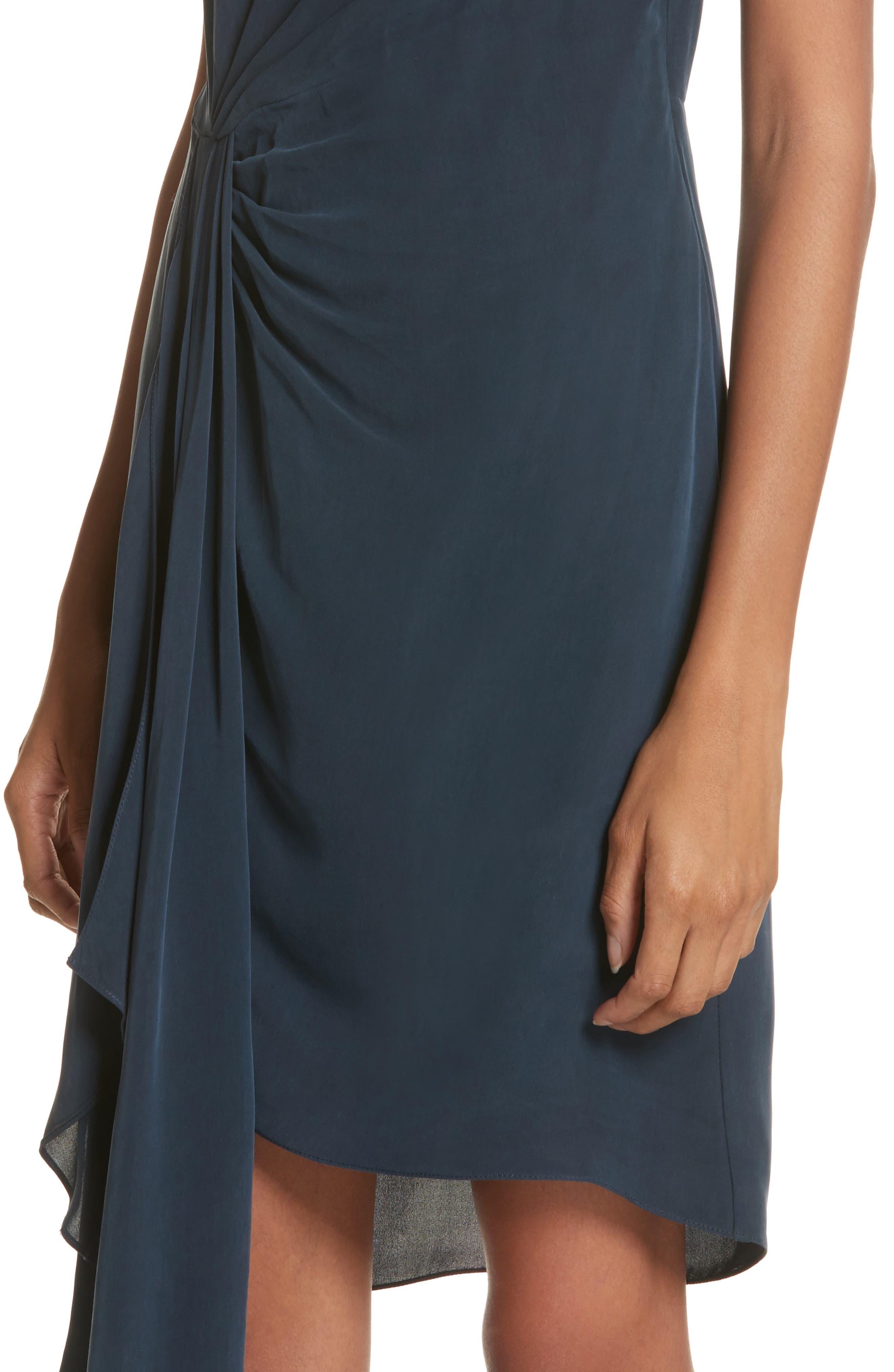 Rachael Front Drape Dress,                             Alternate thumbnail 4, color,                             410