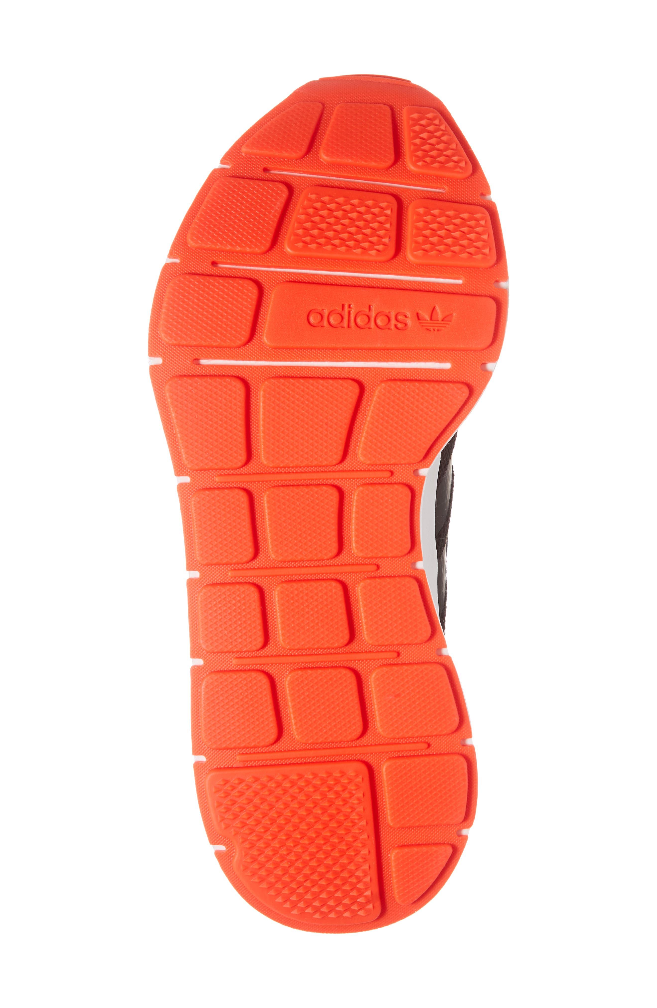 Swift Run J Sneaker,                             Alternate thumbnail 6, color,                             BLACK/ BLACK/ SOLAR RED